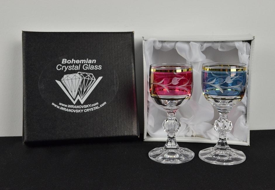 Decorative crystal glasses