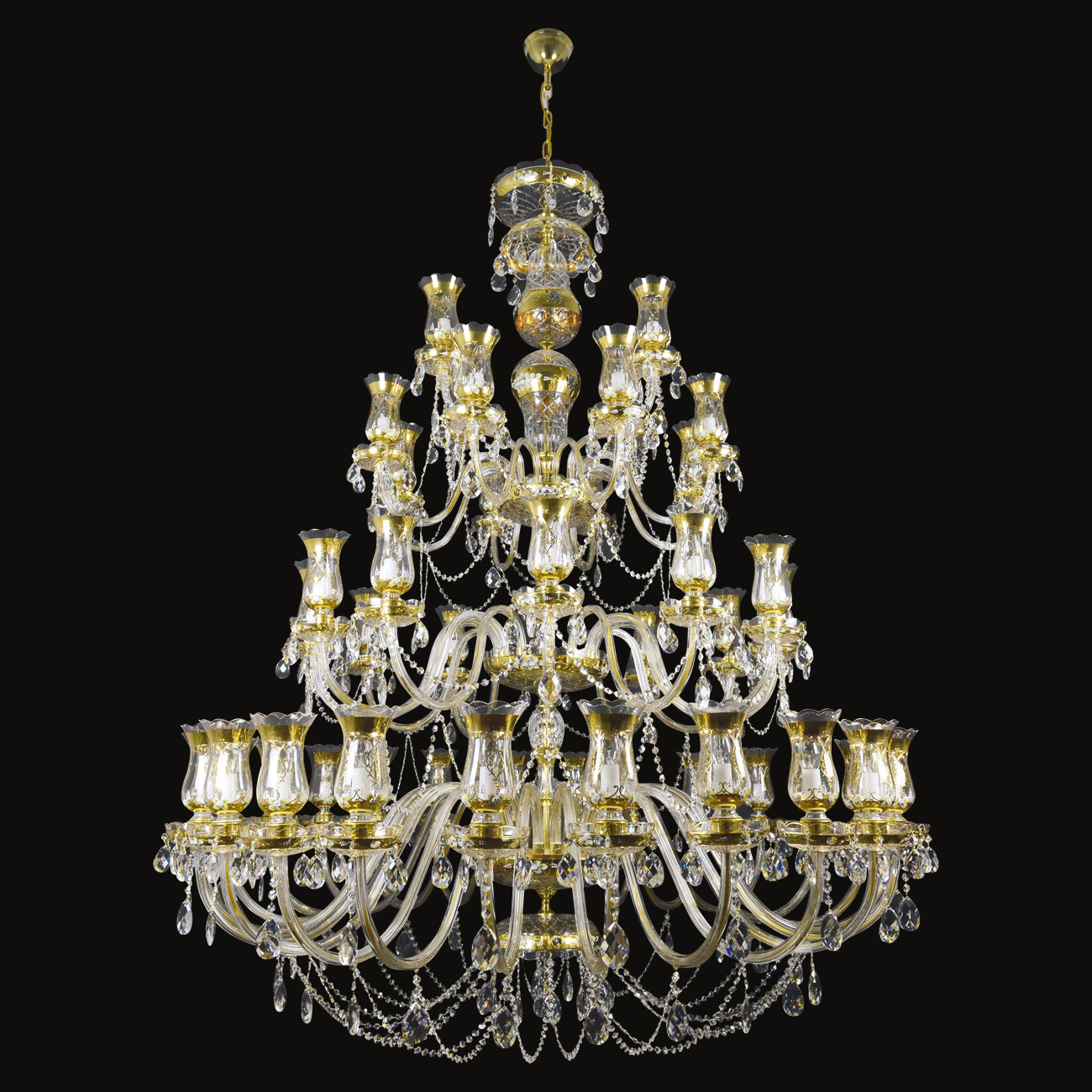48 lights - Ø 165 x H 205 cm