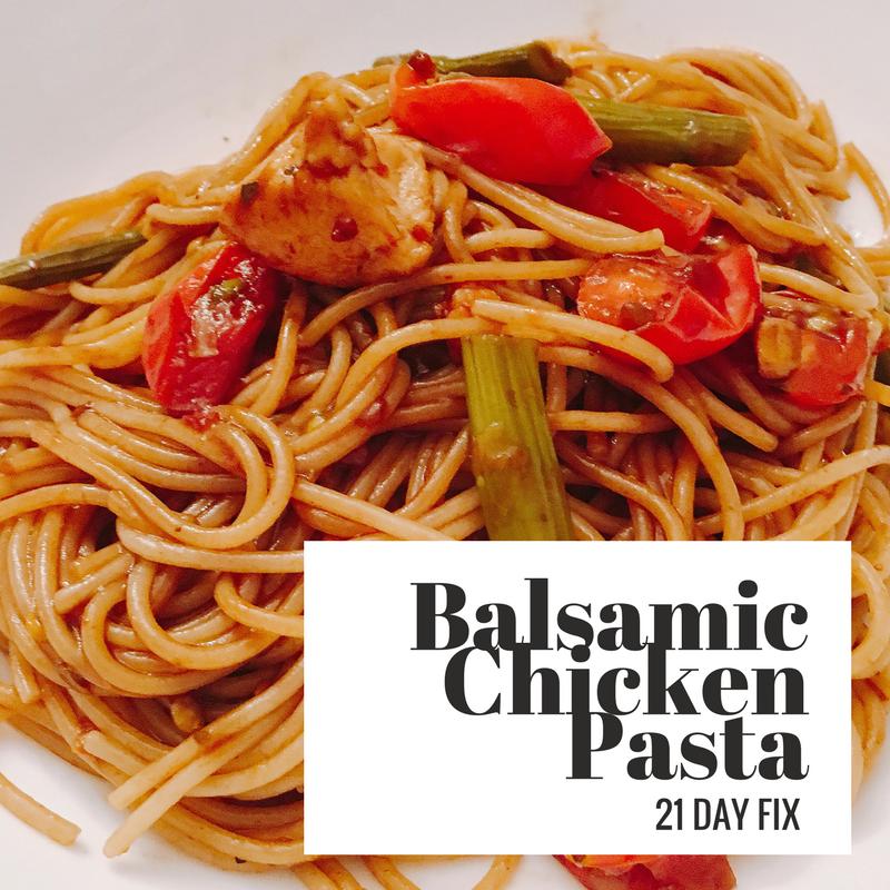 Balsamic Chicken Pasta 21 Day Fix