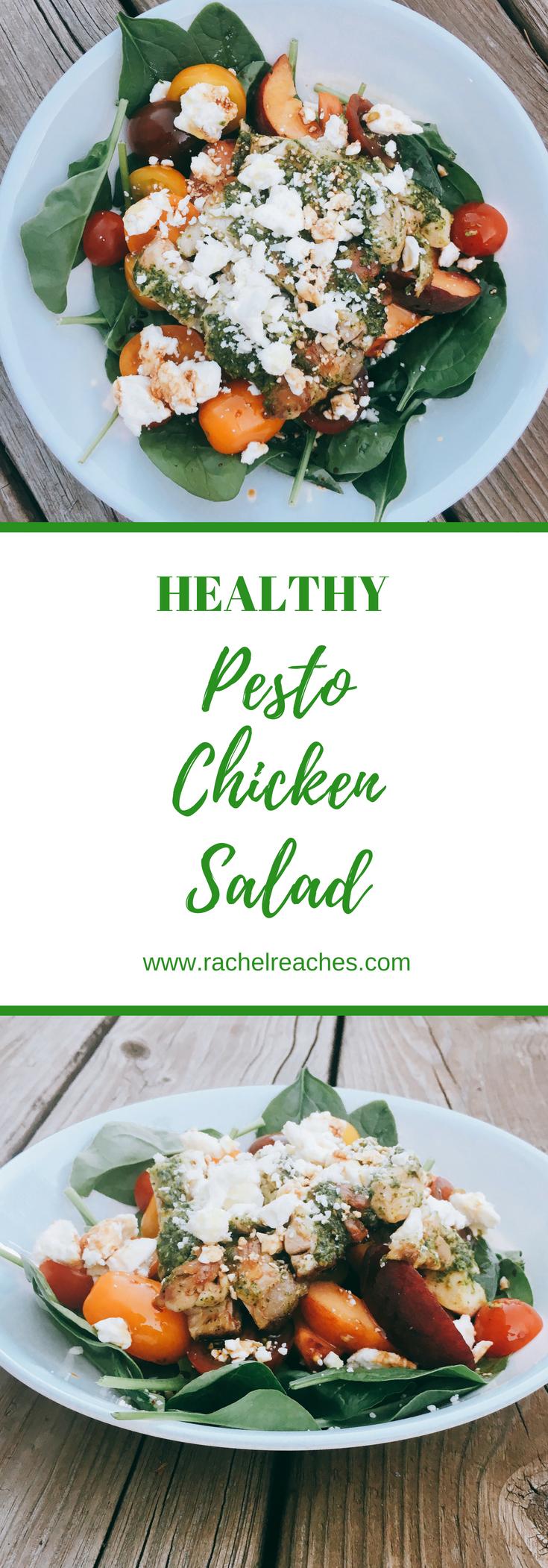 Pesto Chicken Pinterest Pin - Healthy Recipes.png