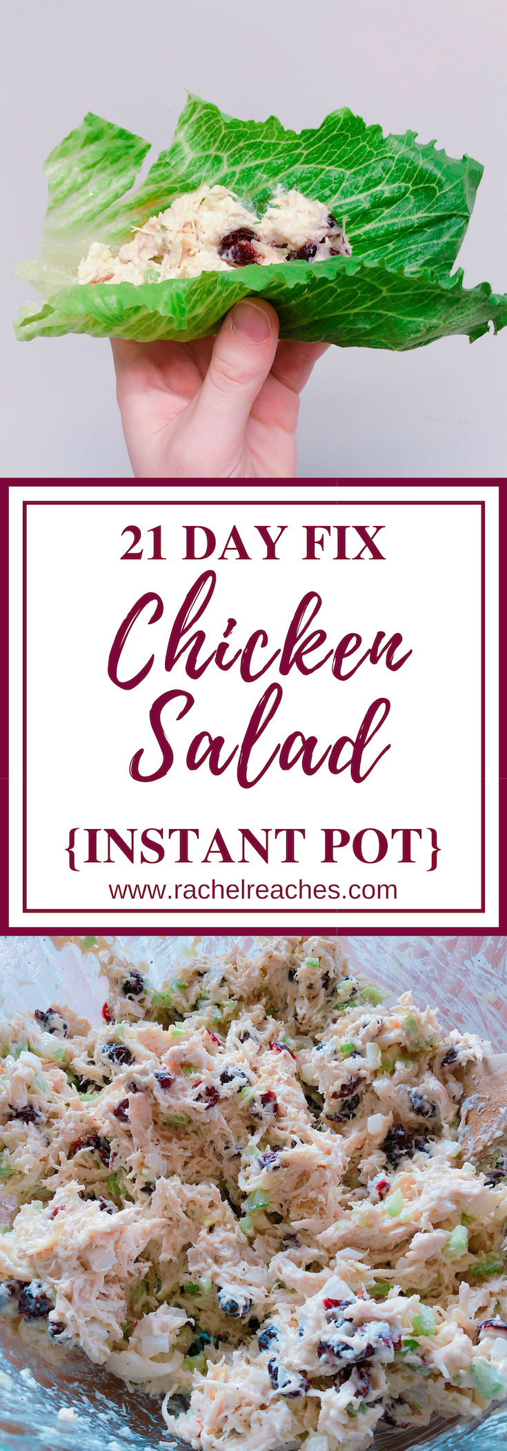 Instant Pot Chicken Salad Pin - 21 Day Fix.png