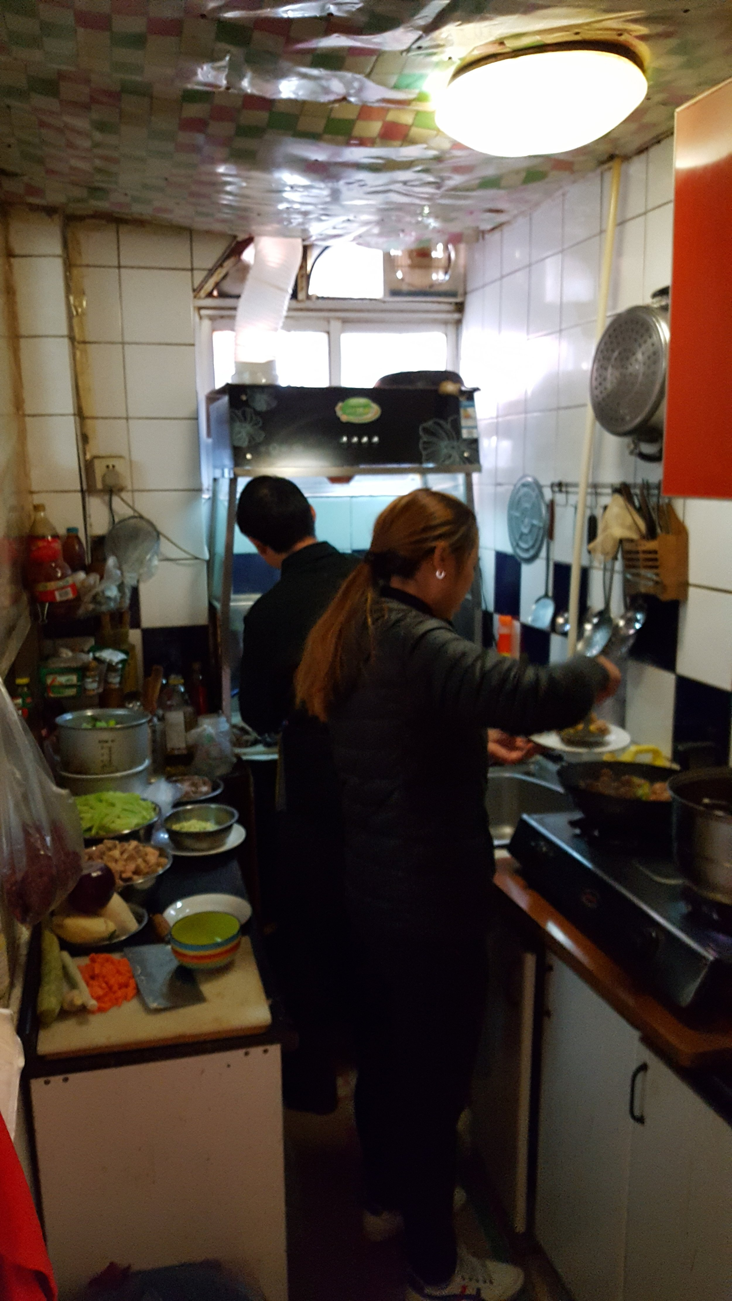 This is the kitchen where they prepared our meal. Truly amazing!