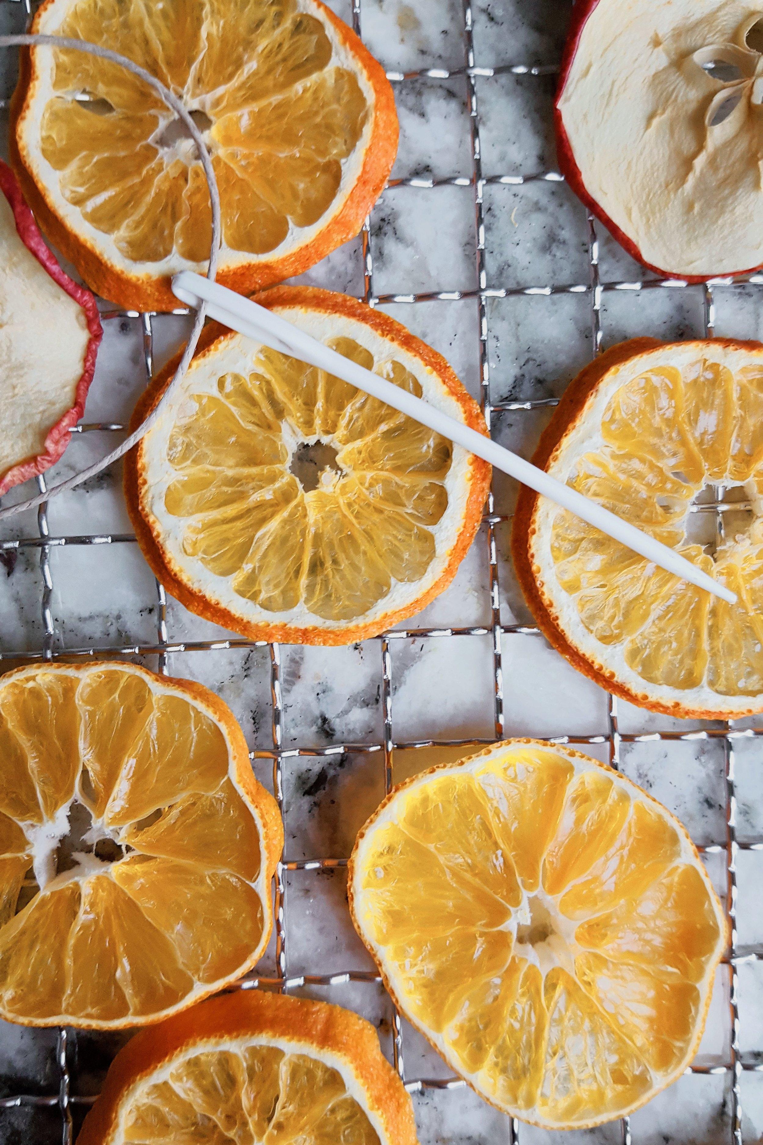 DIY Dried Fruit Ornaments & Garland