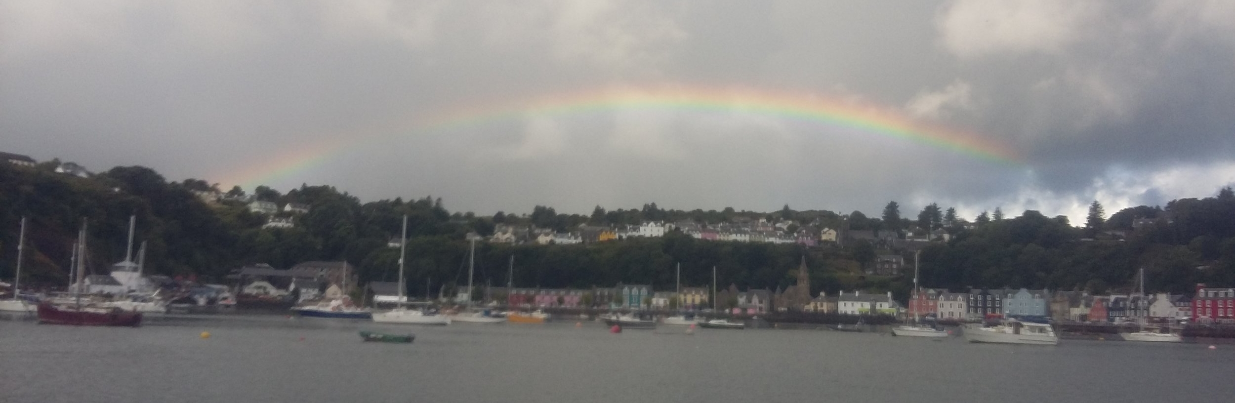 The 'silver lining' of Hebridean weather...lots of rainbows!