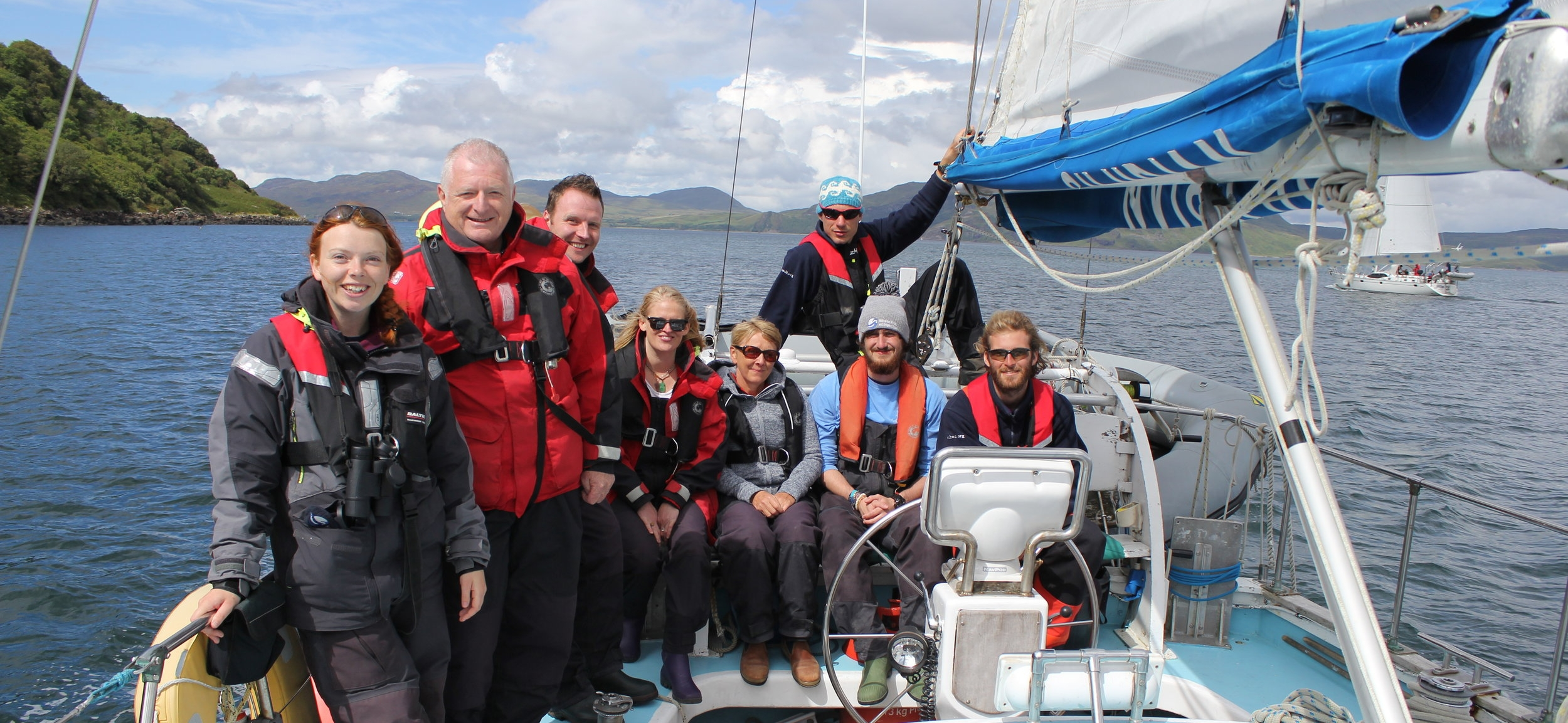 HWDT staff and the NATS team aboard  Silurian