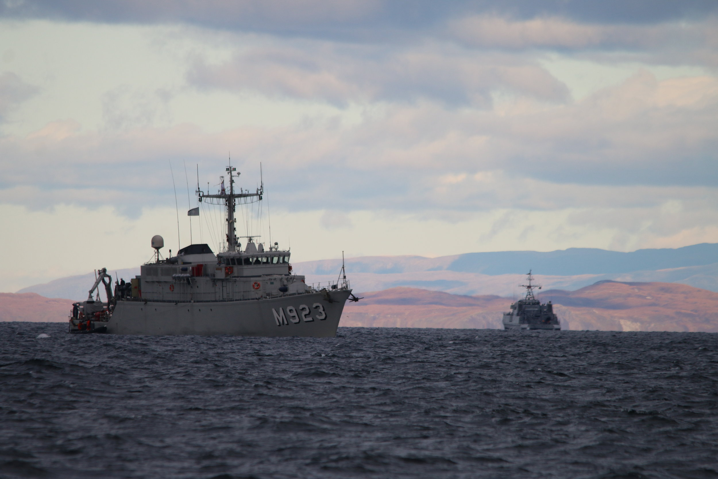 Military vessels recorded during the Joint Warrior survey