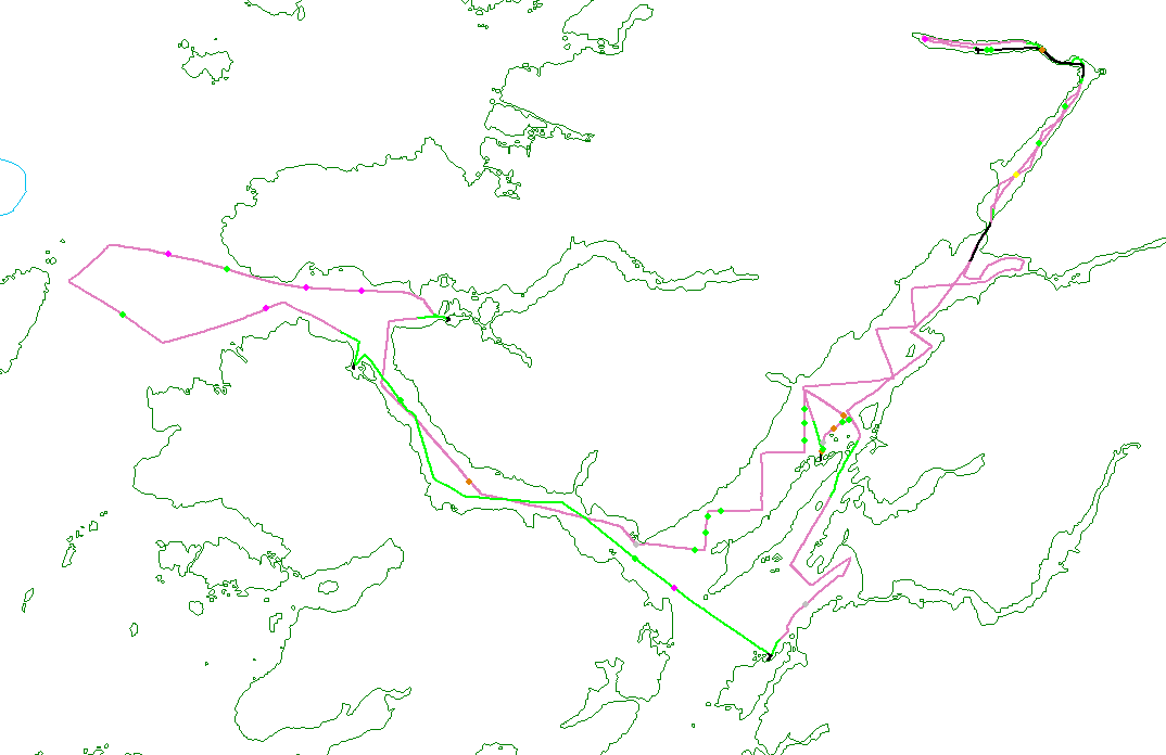 Track lines for Teen Research Expedition 1