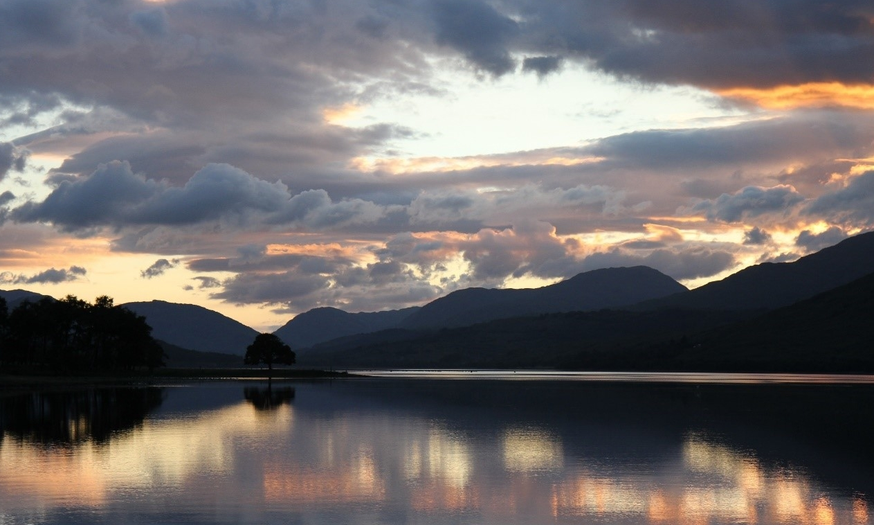 A beautiful sunset, whilst anchored in Loch Eil for the night.