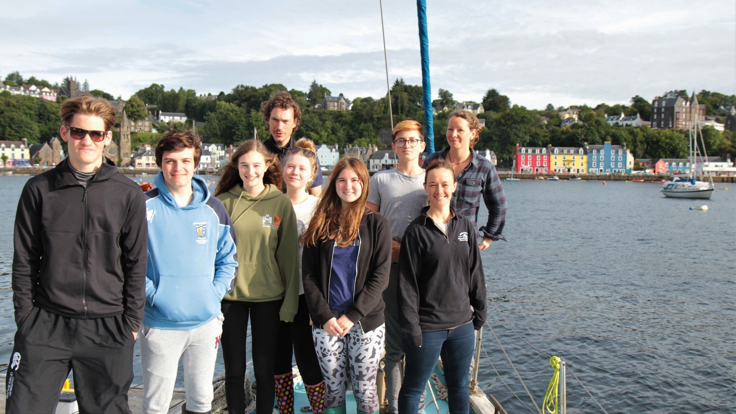 The team in Tobermory Bay (minus Pippa who is taking the photo!)