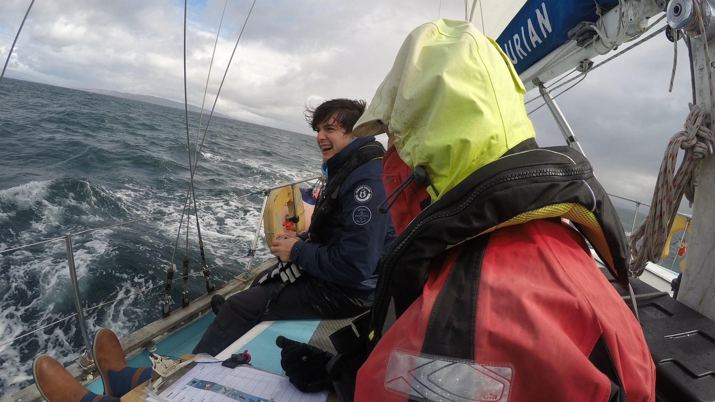 Wet and windy... but we are still smiling!