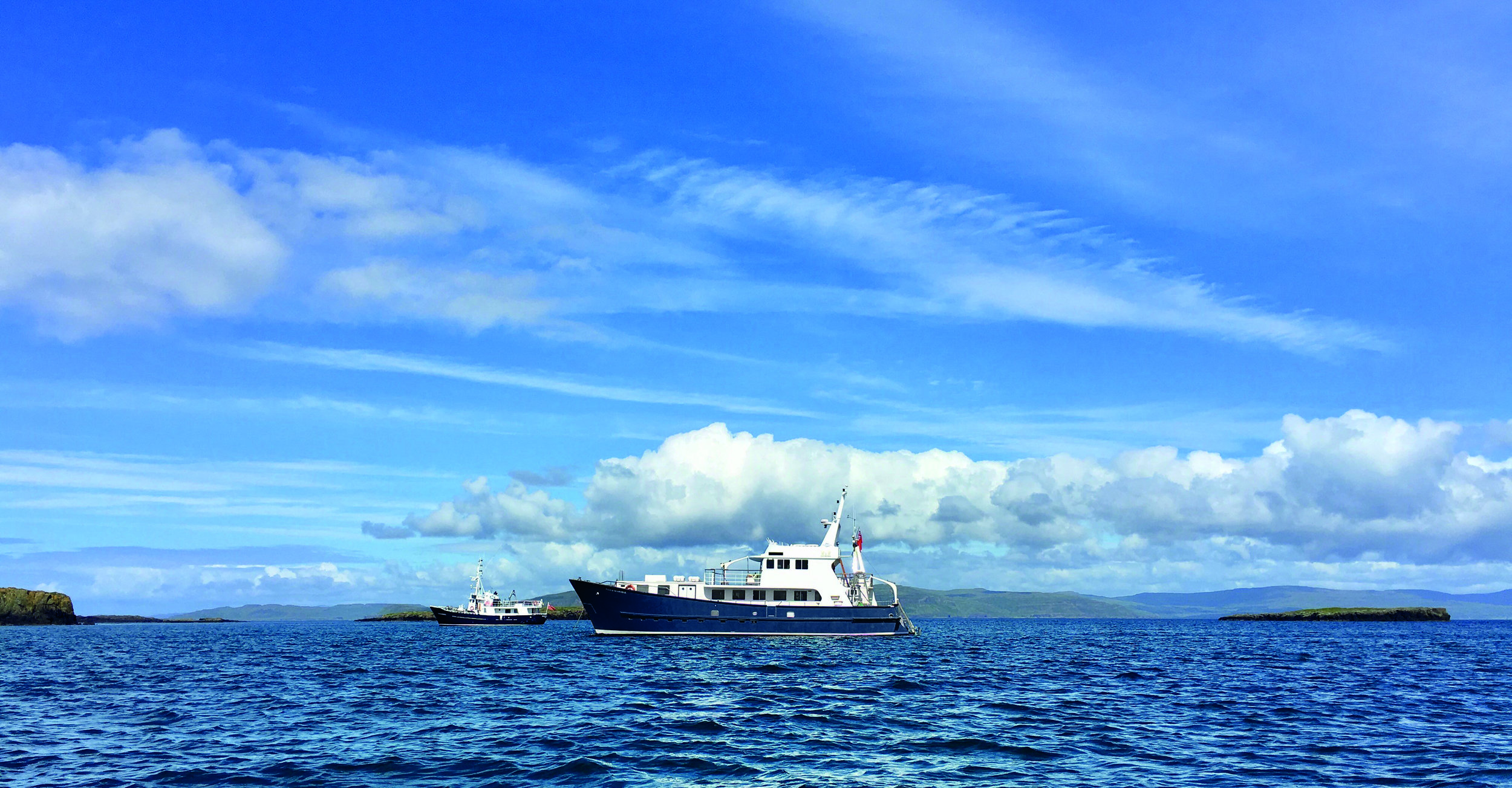 Hebrides Cruises' vessels Elizabeth G and Emma Jane