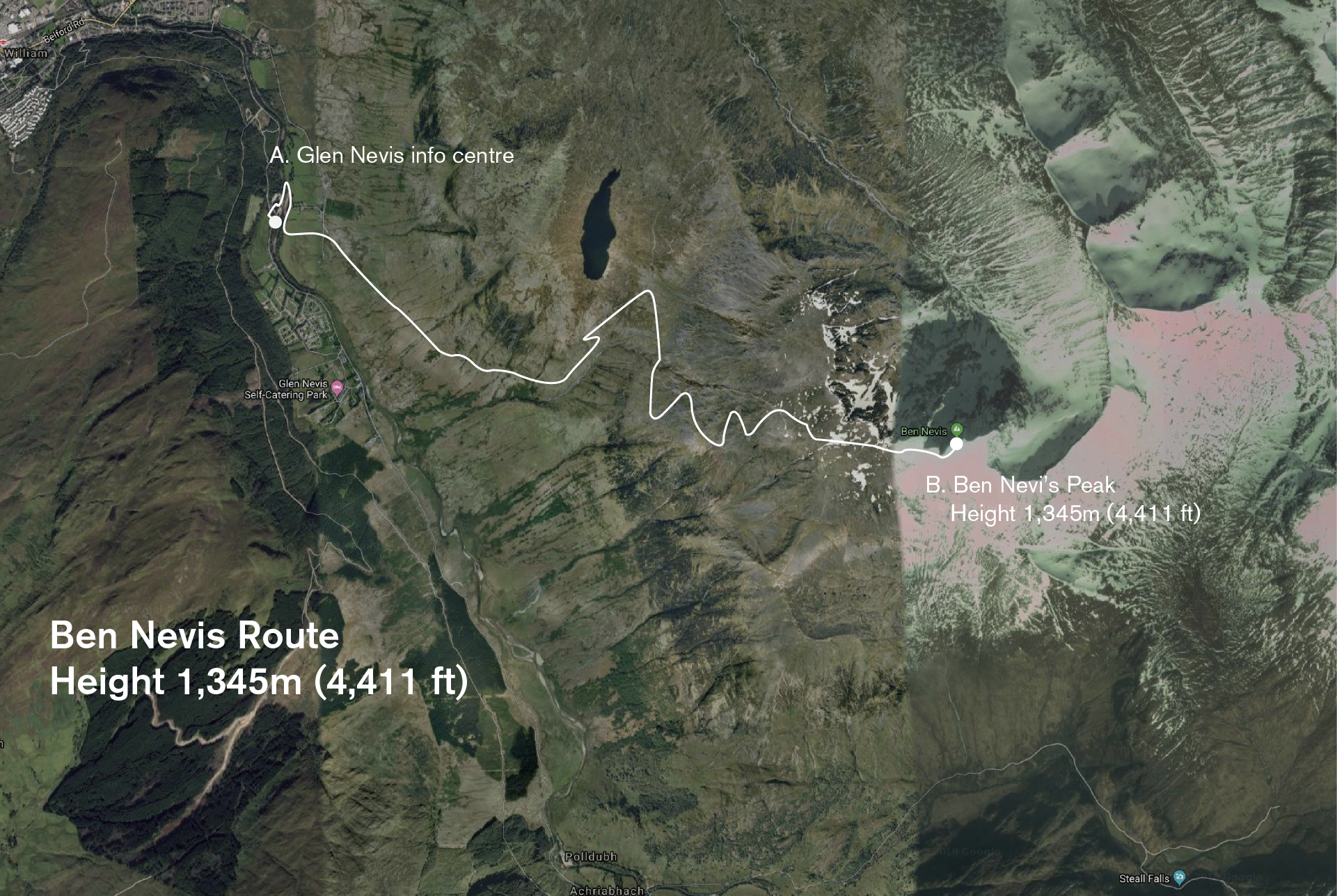 The route map of the climb.
