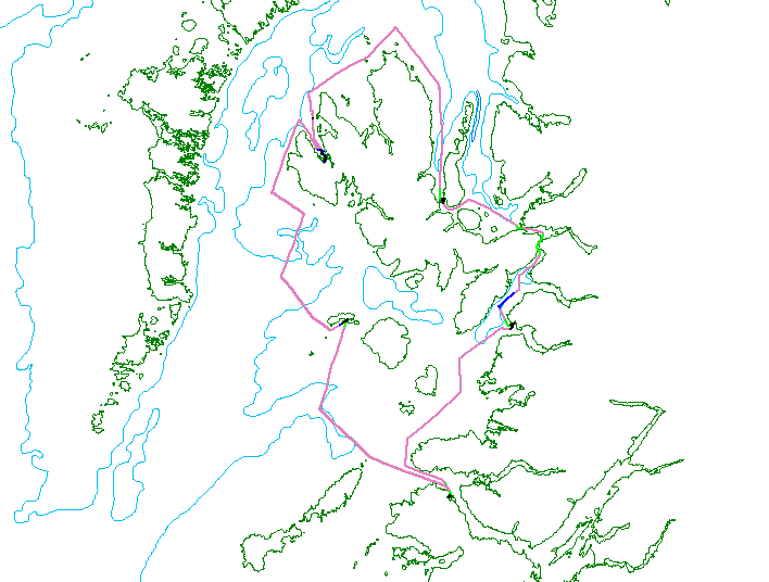 Track lines for the Joint Warrior survey