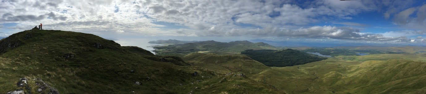 Panorama from Ben Hiant looking west
