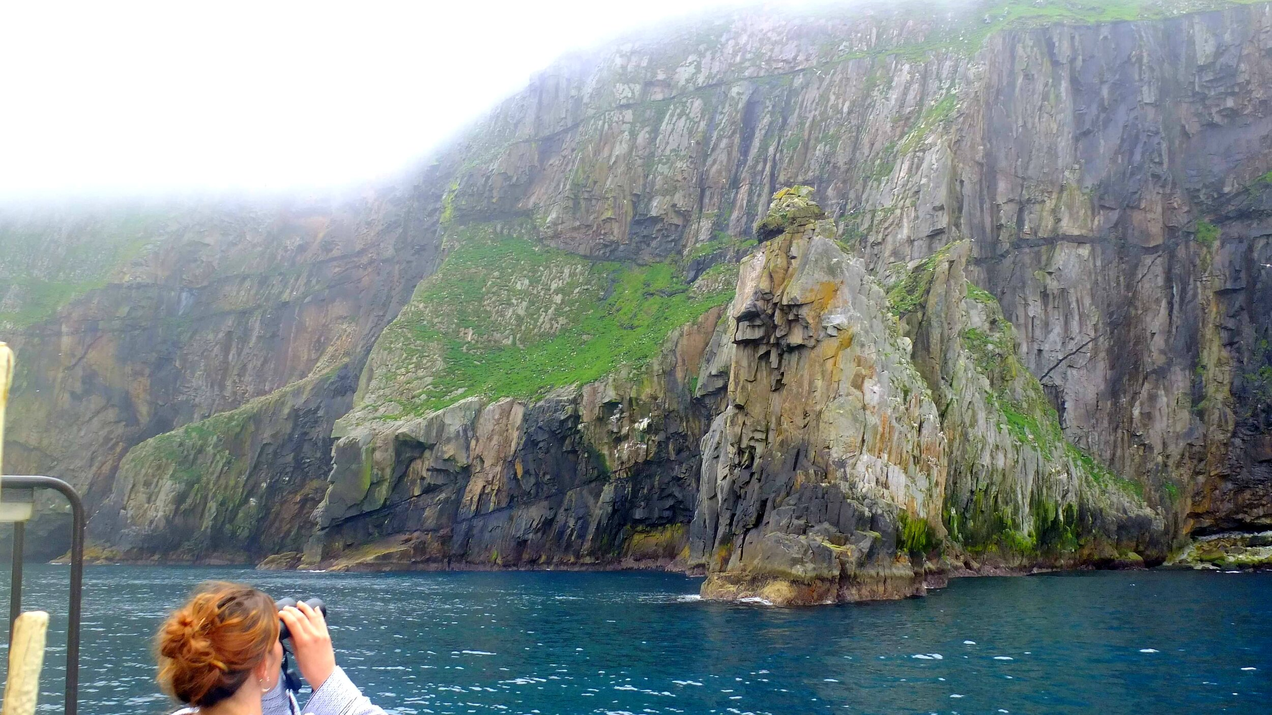 The towering bird cliffs of St Kilda