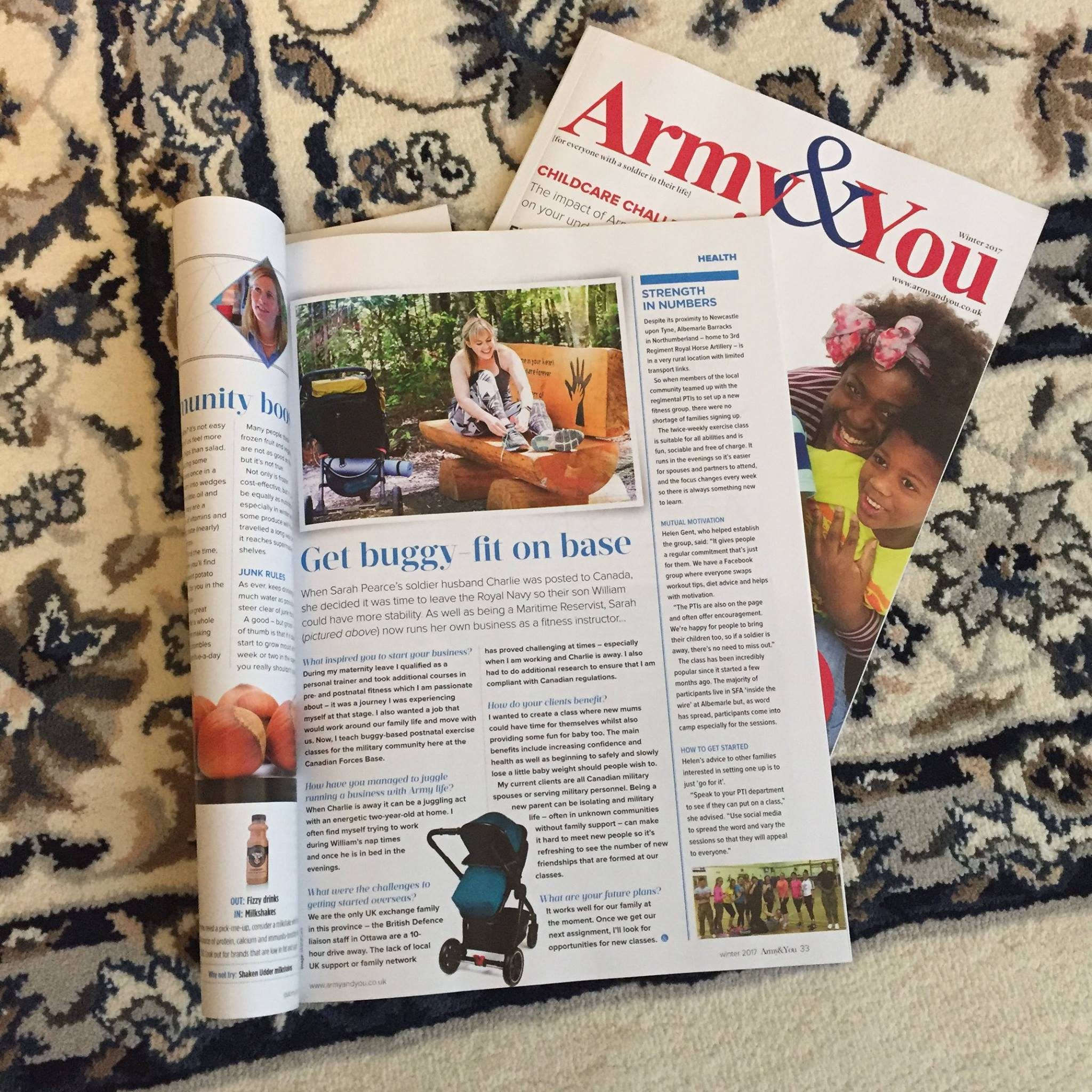 Sarah in the Media:   Winter 2017 Edition of Army & You