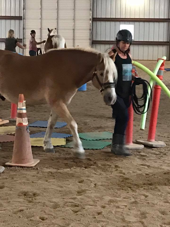 """Cari is one of our veterans we are sponsoring for multiple programs, with her end goal being a therapeutic riding instructor. This is her in her intensive """"Reach Out To Horses"""" training, that she passed with flying colors."""