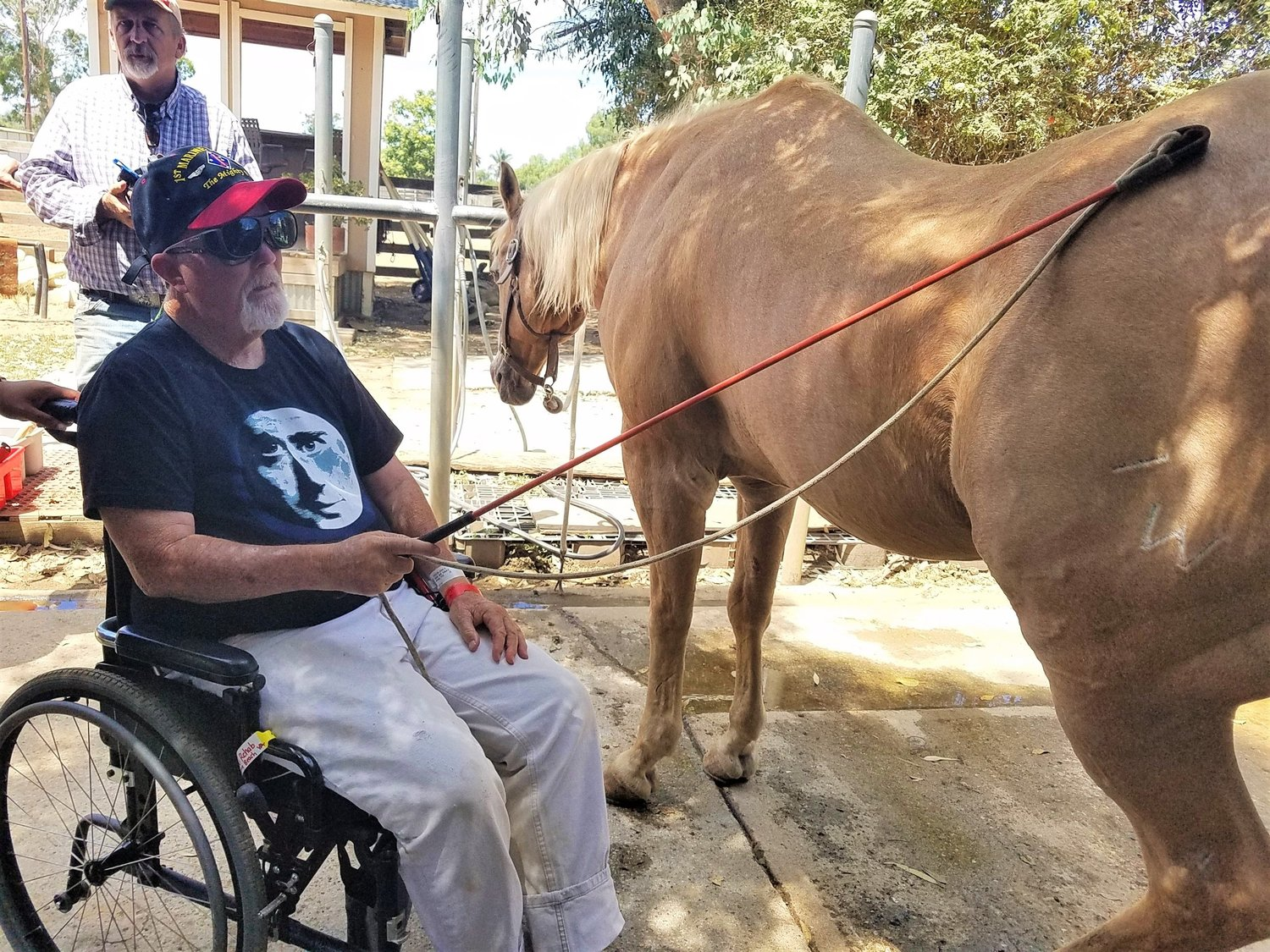 You can use tools to perform these Masterson Method techniques if you are in a wheelchair like our veteran from the Blind Rehabilitation program at the Long Beach VA.