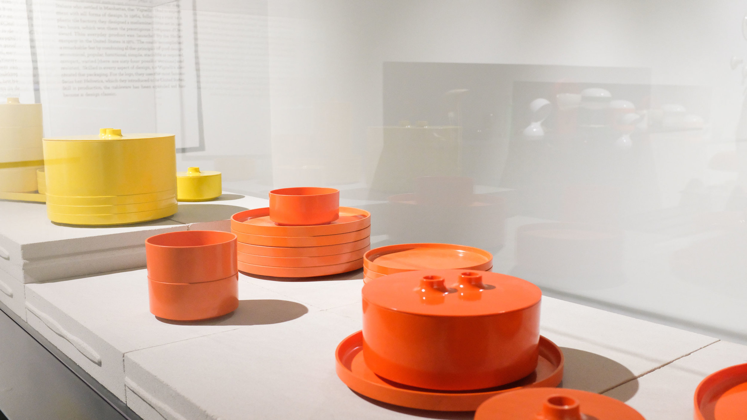 Got to see the Vignelli's dinnerware pieces!