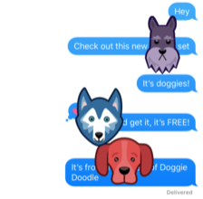 Doodle Doggies iMessage Sticker Pack (Free!)