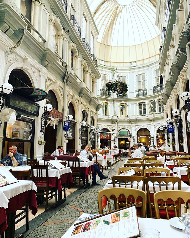 "Back in #Istanbul and grabbing a quick lunch in ""The Flower Passage"""