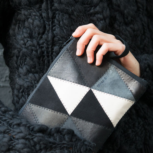 leather clutch -