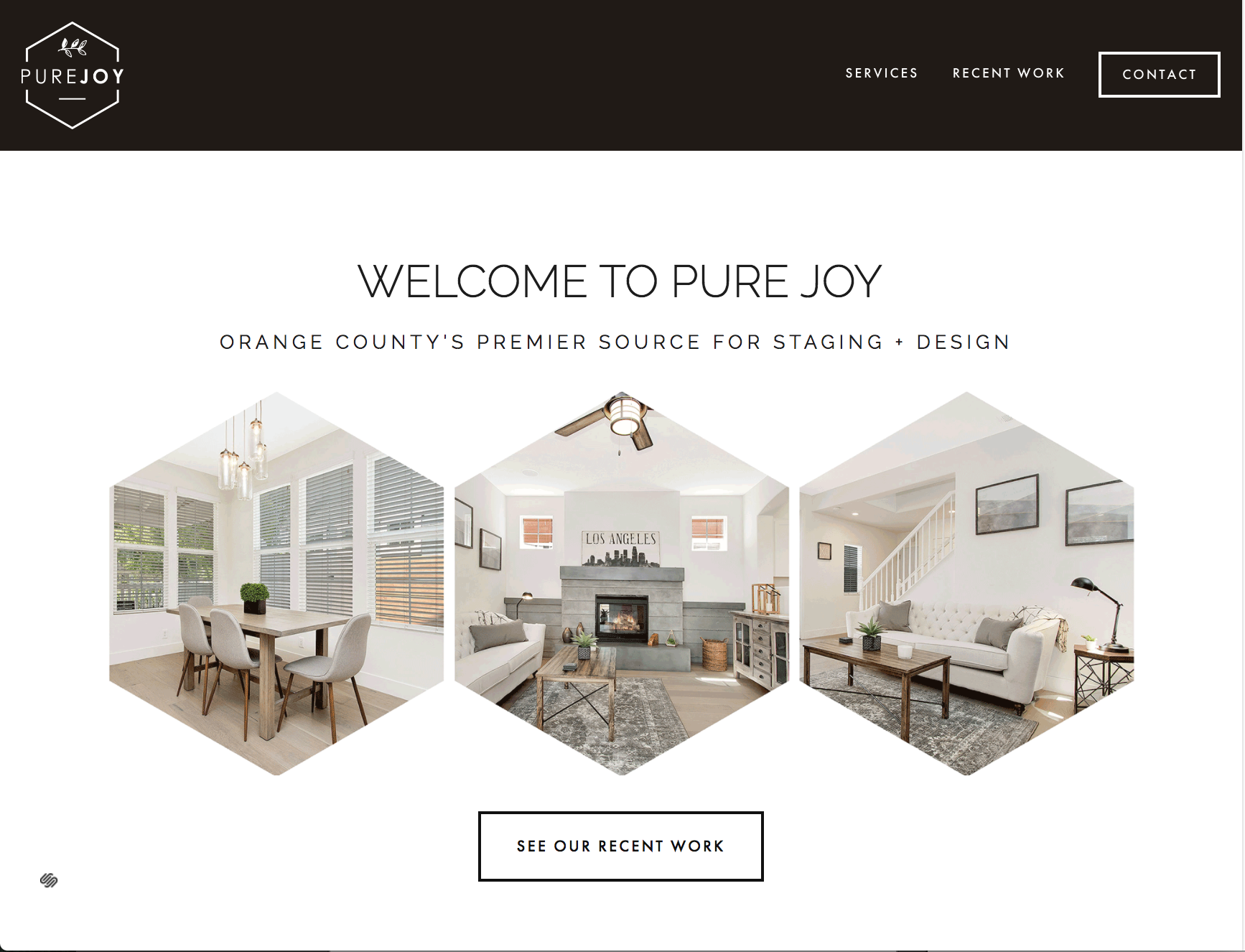 Natalie Lauren Design Co. | Pure Joy Staging + Design | Website Design