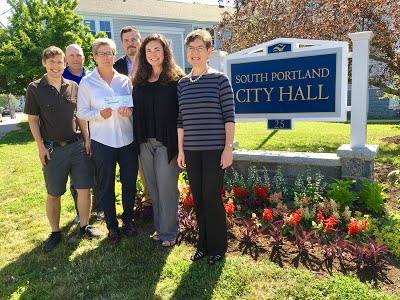 Pictured in the photo above L-R: Dugan Murphy, South Portland Land Trust Program Manager; Kevin Adams, South Portland Parks and Recreation Director; Patti Smith, South Portland Mayor; Chris Morelli, South Portland City Manager; Kate Lewis, South Portland Land Trust President; Sharon Newman, Congregation Bet Ha'am Past President. Photo courtesy of The Sentry.