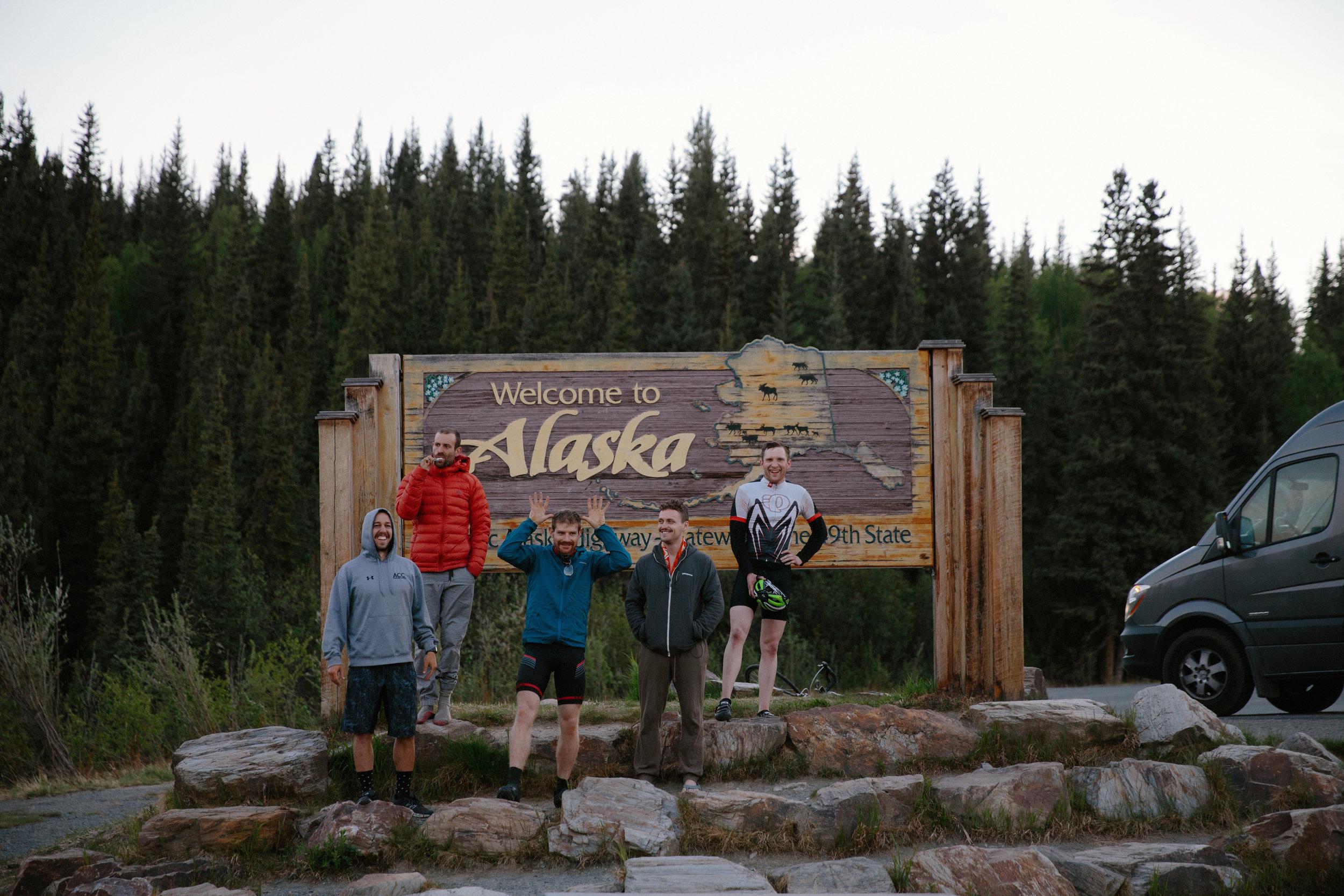 Riders reach the Canadian - Alaskan Border