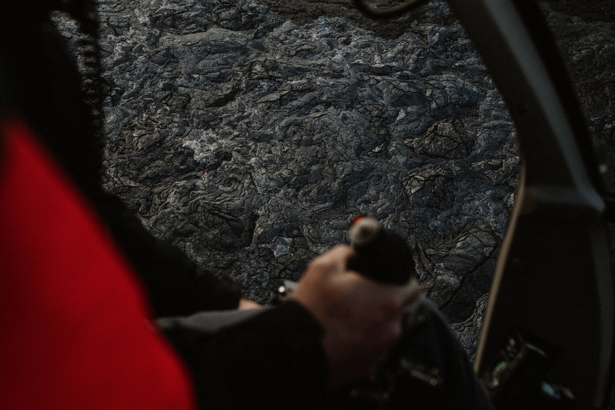 Helicopter? Check.Flying over lava in Hawaii? Double check. -