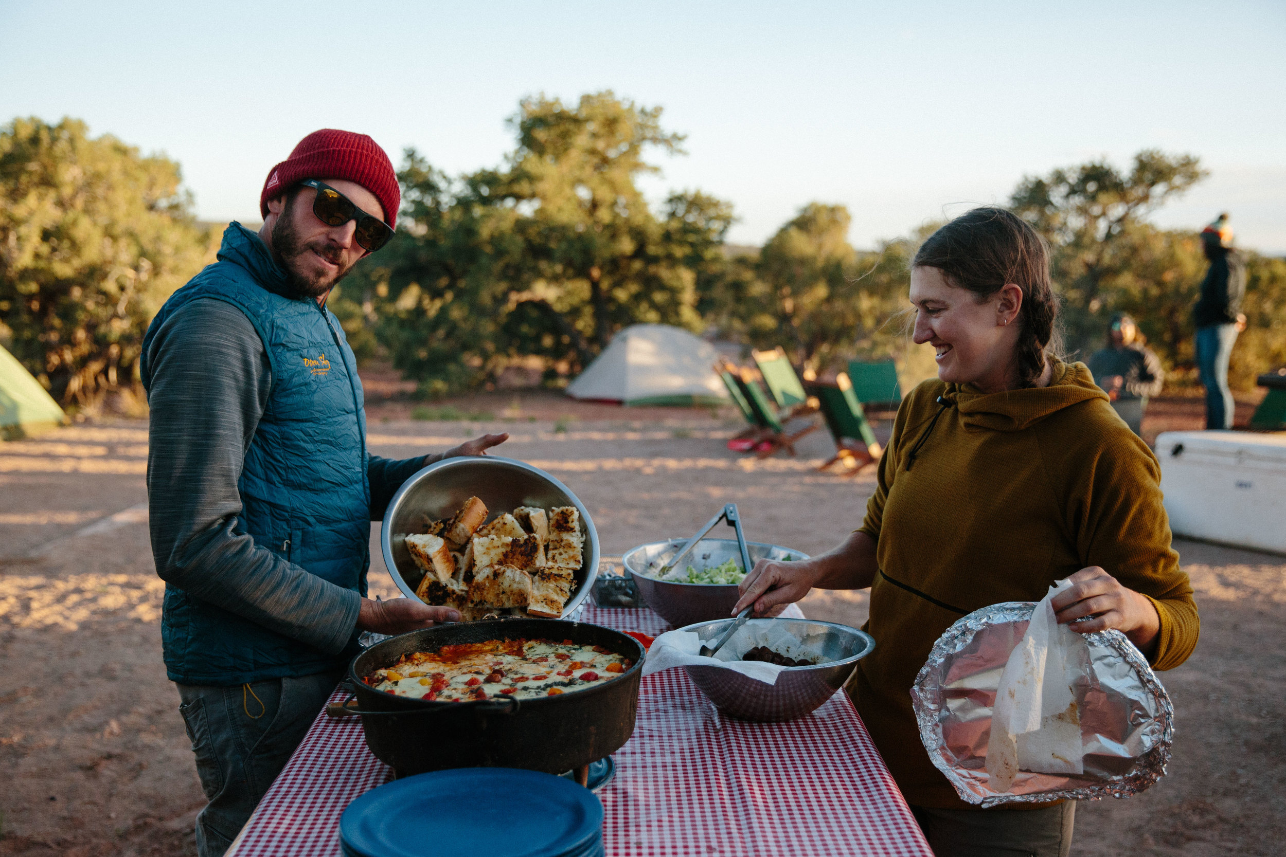 Backcountry lasagna in Moab