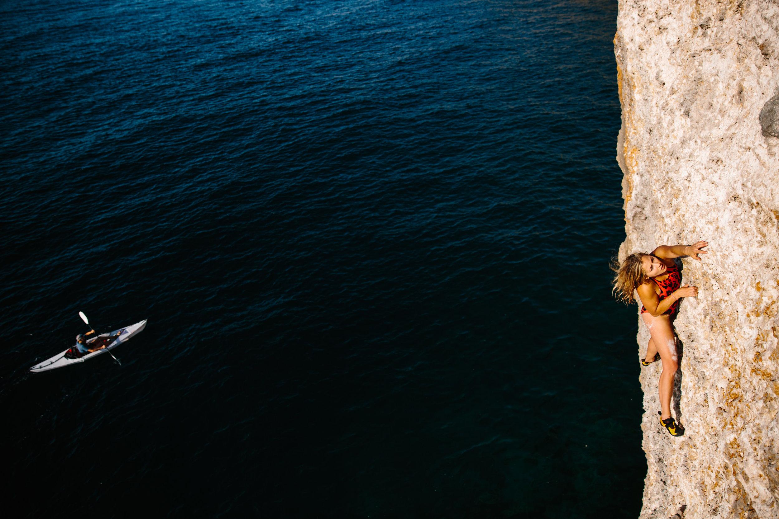 Sasha DiGiulian climbing Indonesia