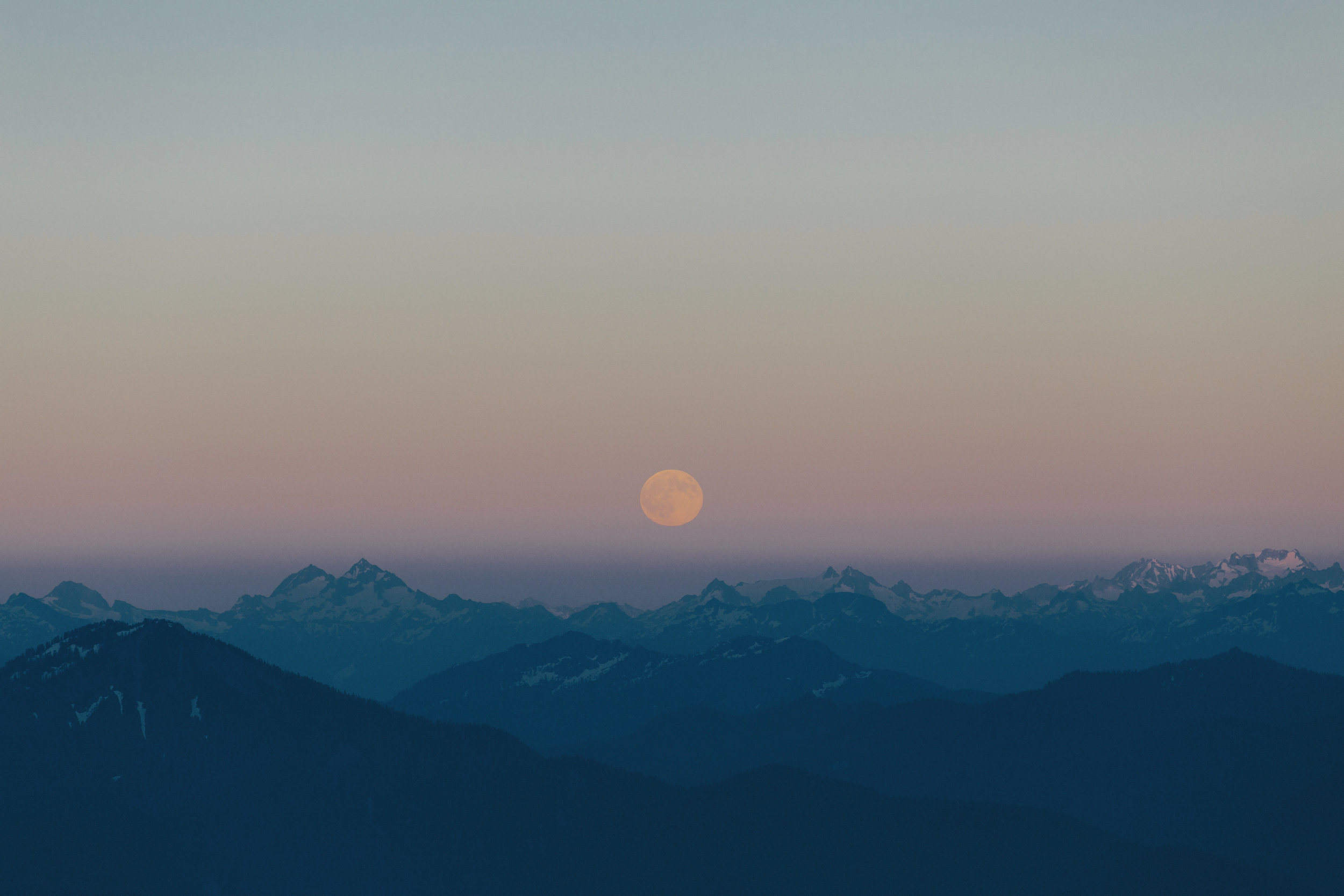 Moonrise in North Cascades