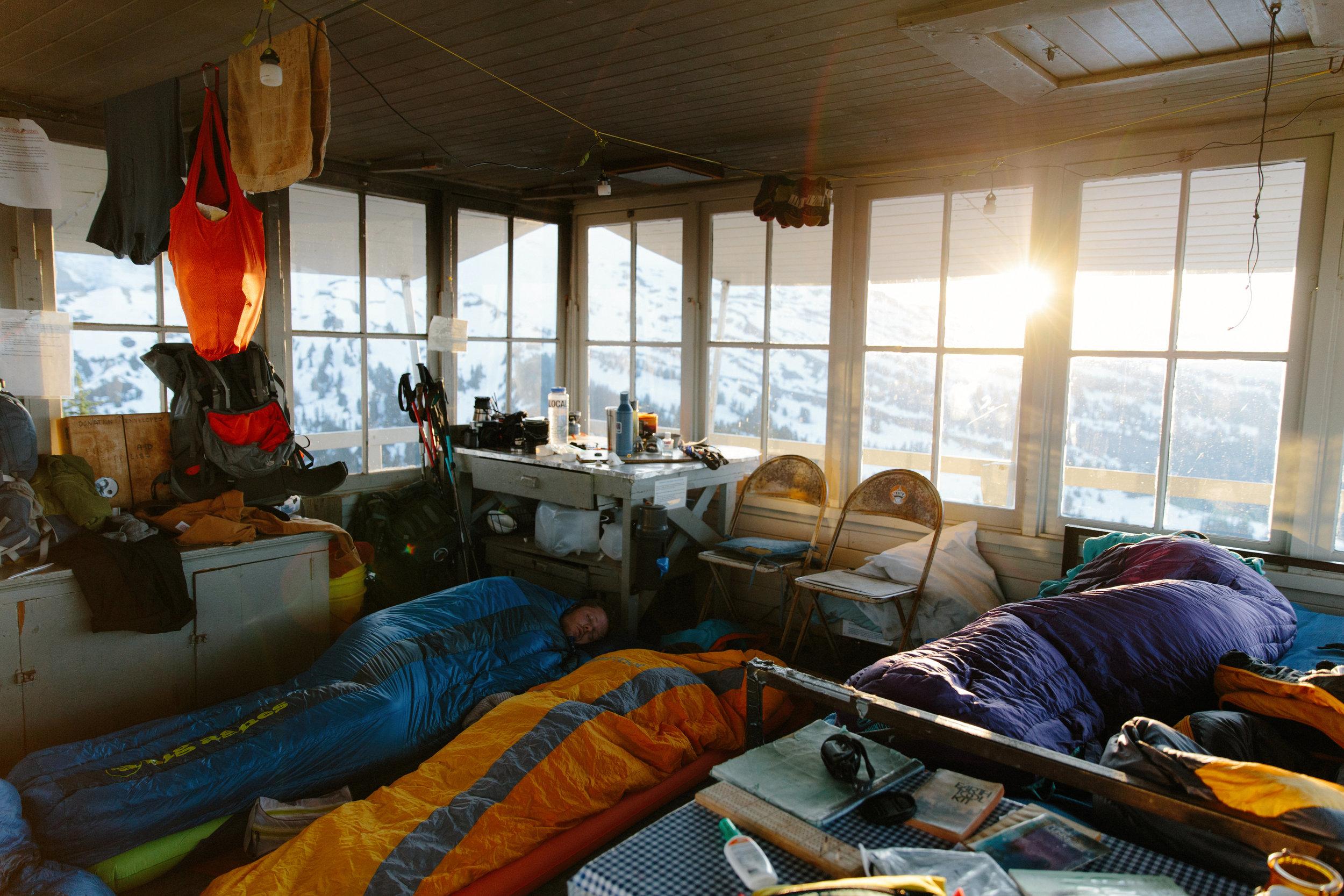 Sunrise from Mount Baker hut