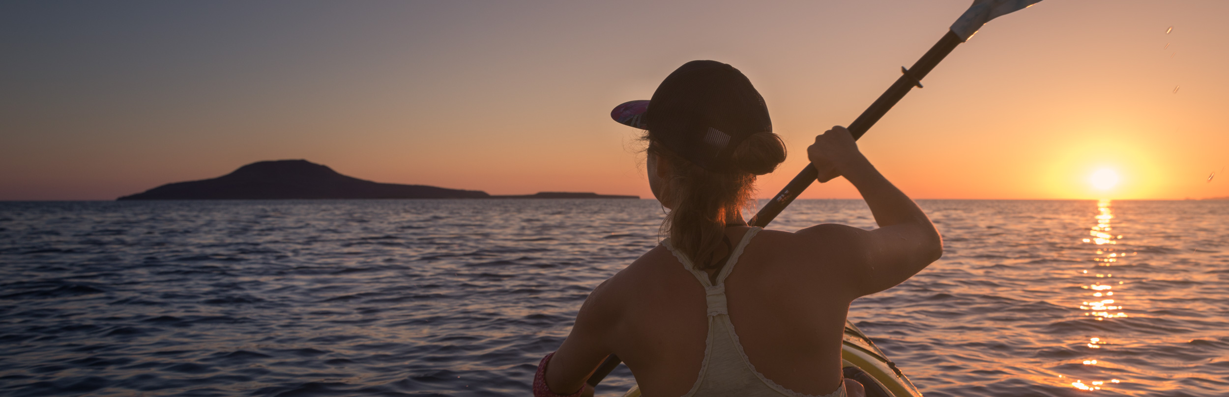 Woman Kayaking on Gulf of California to Coronado Island.jpg