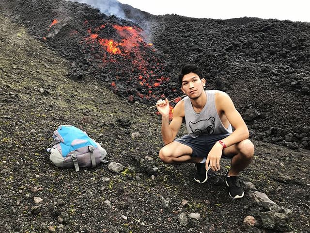 If you can't take the heat, stay out of the kitchen, fly to another country, hike up a volcano, and roast marshmellows 🌋