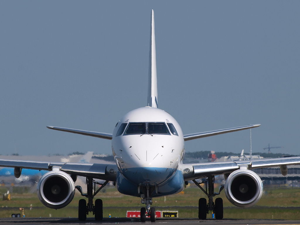 The average person's carbon foot print is about 22 tons, which means 22 tons of CO2 are added to the atmosphere by a person each year. This is equivalent to the weight of an empty E175 jet!