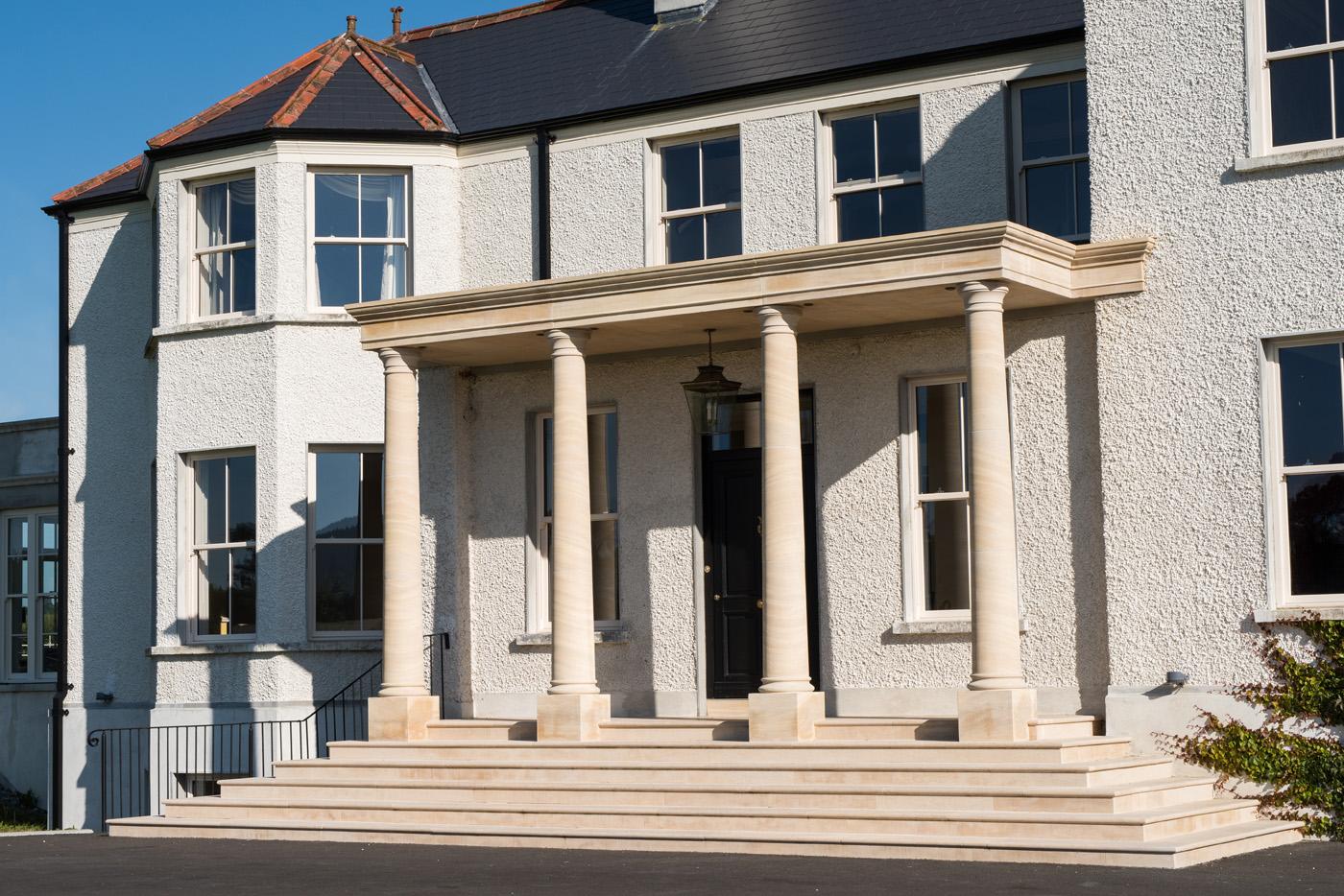 Limestone Portico - Limestone & Design Work