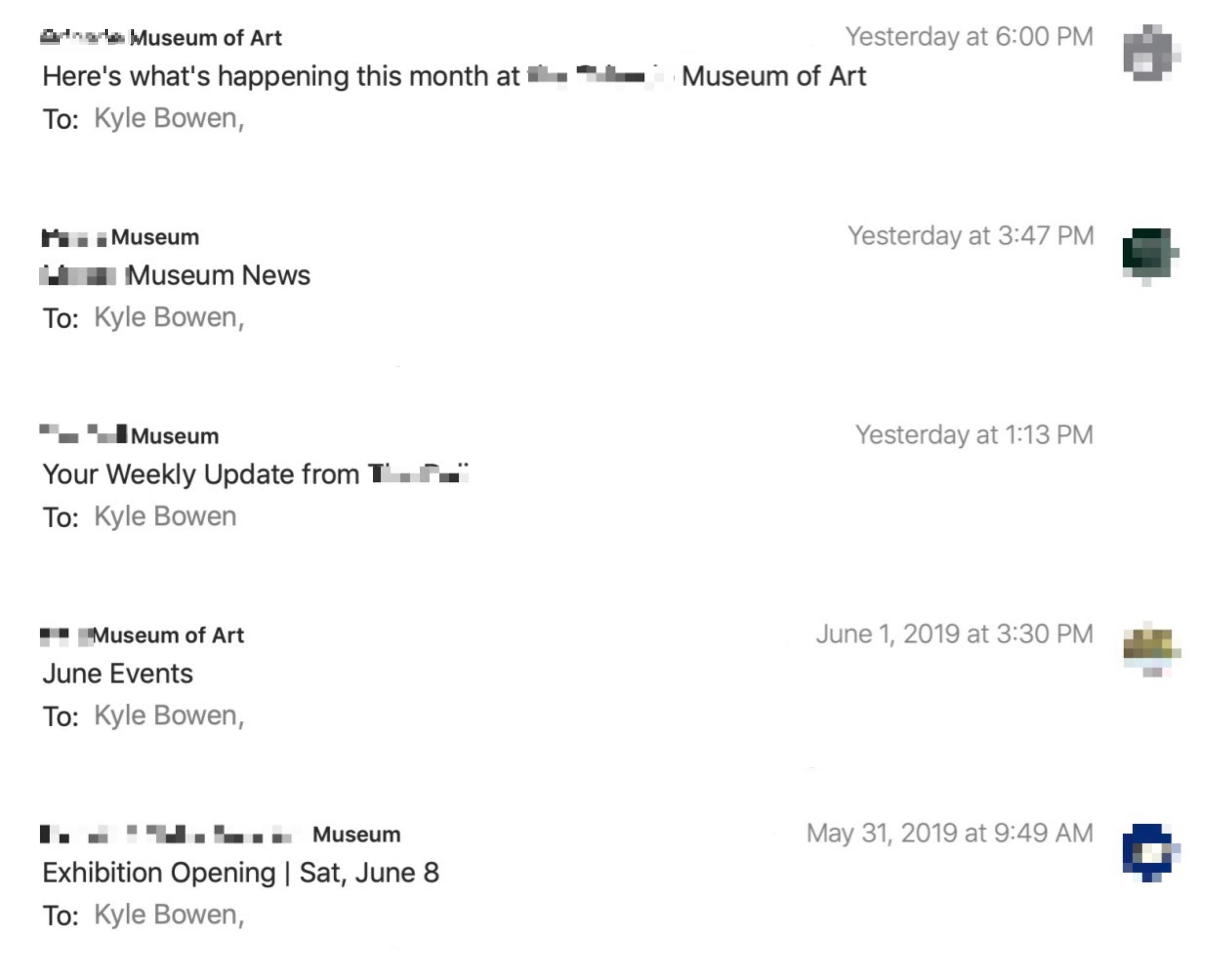 Museum newsletter subject lines