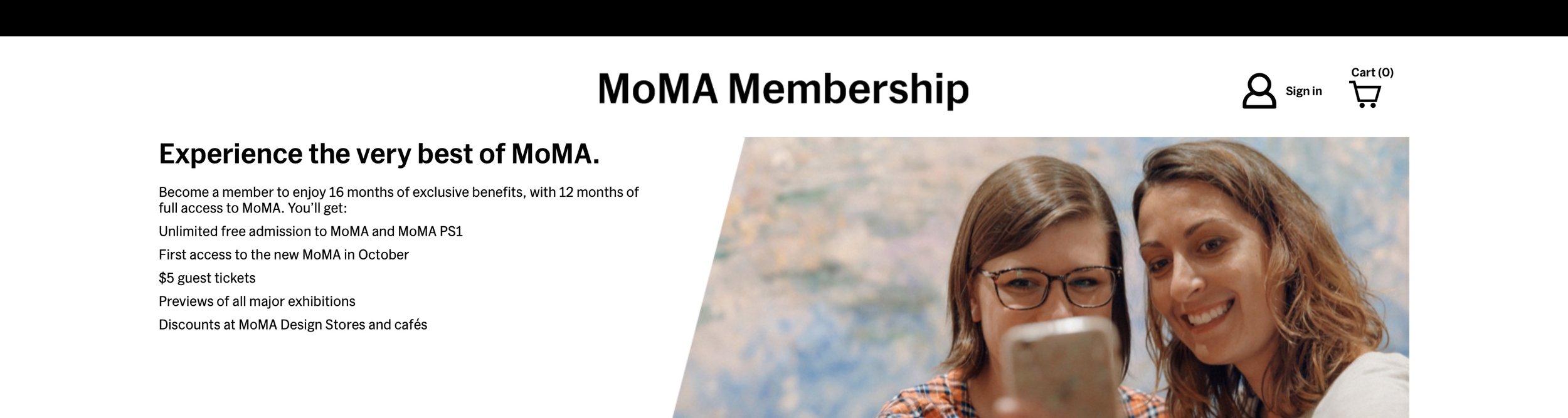 MoMA Membership Navigation
