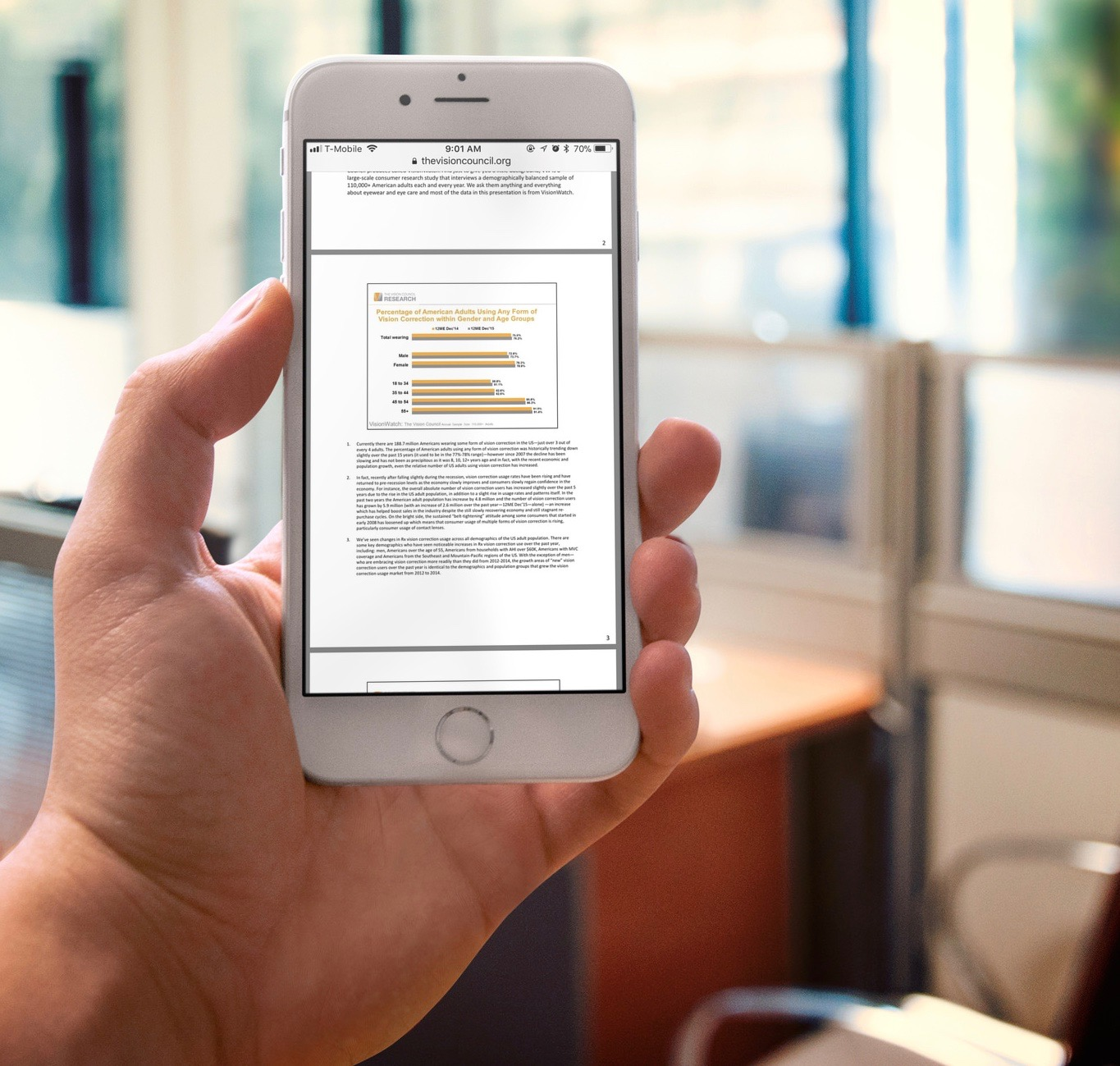 Here's how that PDF you published looks on a mobile device. -