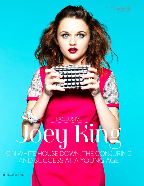JOEY KING WEARING THE GABRIELLE CLUTCH BY JQ
