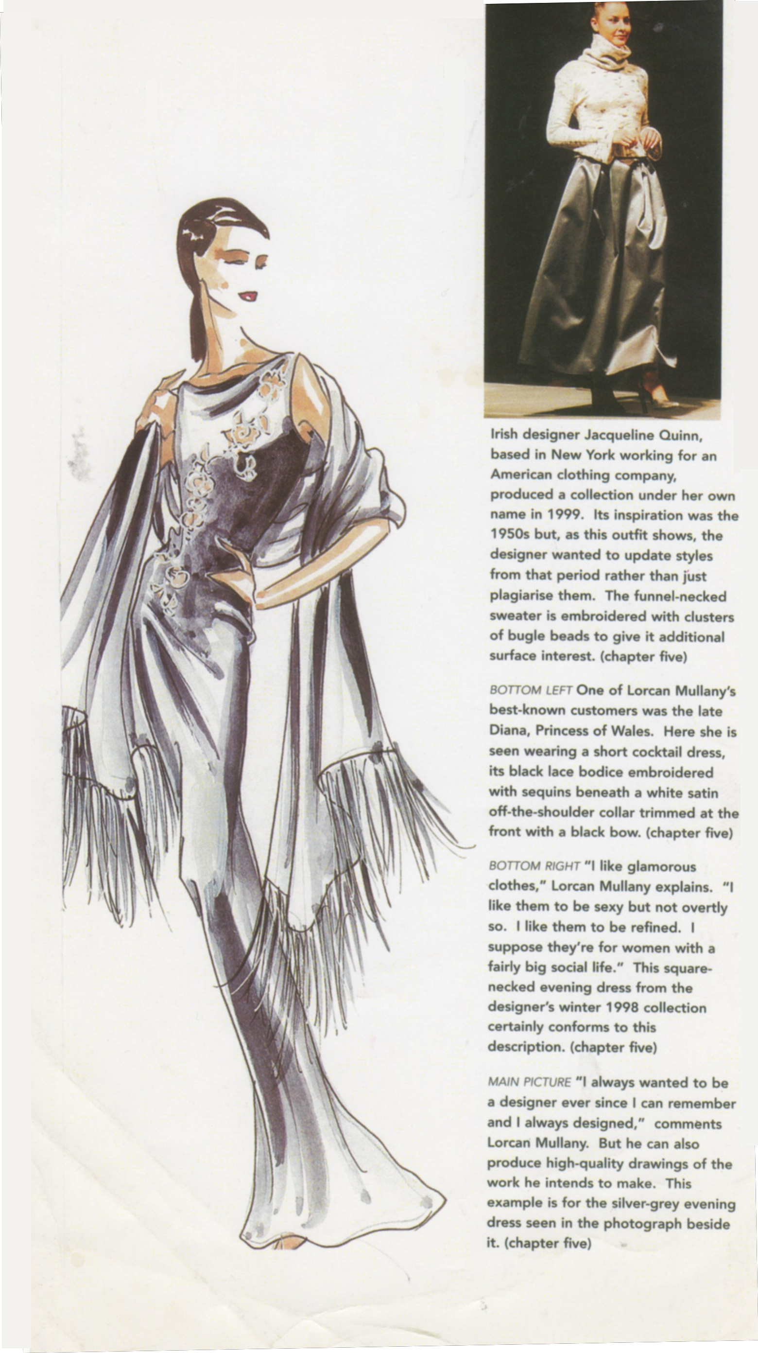 "JACQUELINE QUINN FEATURED IN THE BOOK ""AFTER A FASHION"" BY ROBERT BYRNE"