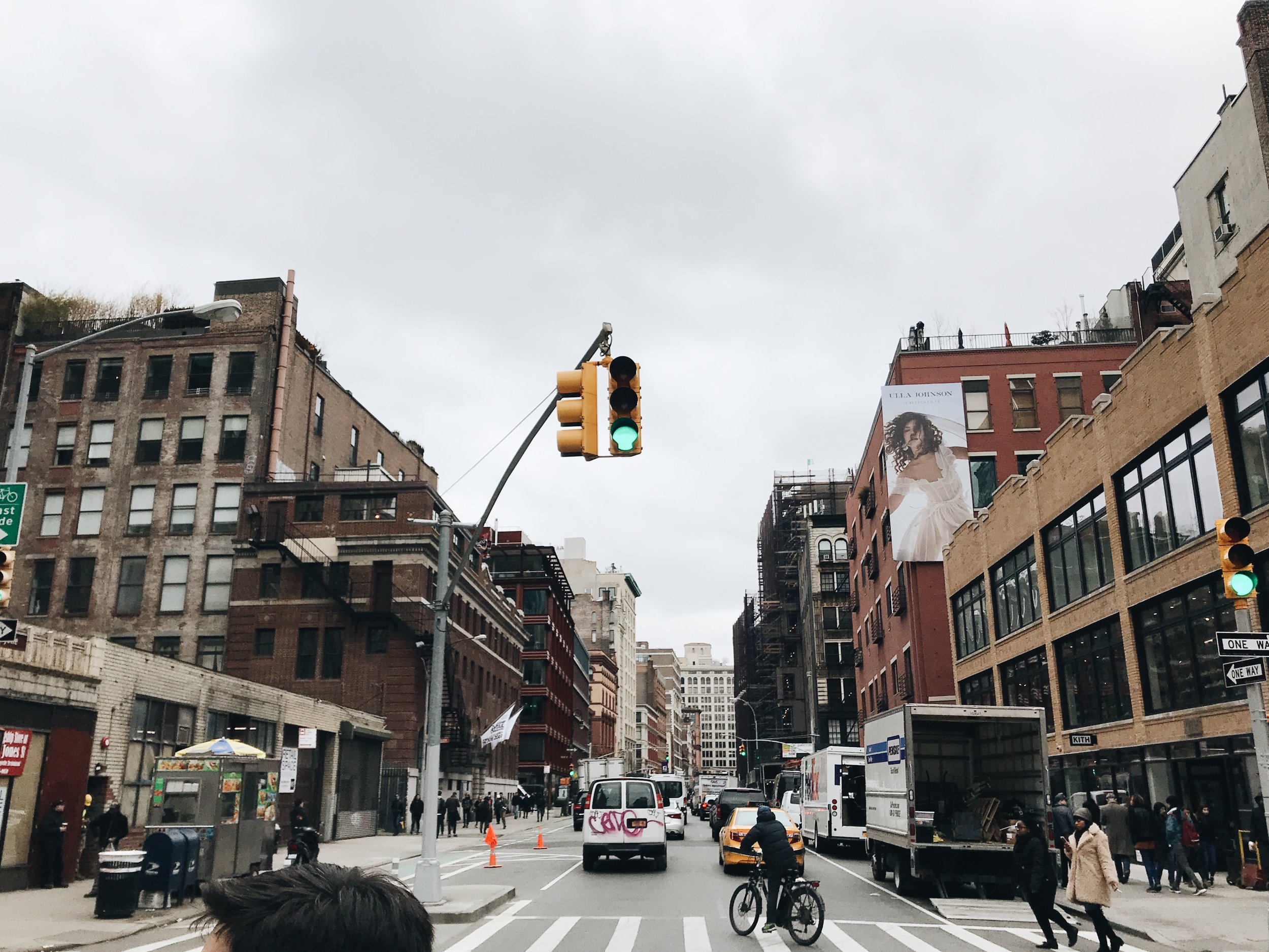 I struck out on my own and took that cliche, very non-New-Yorker picture.