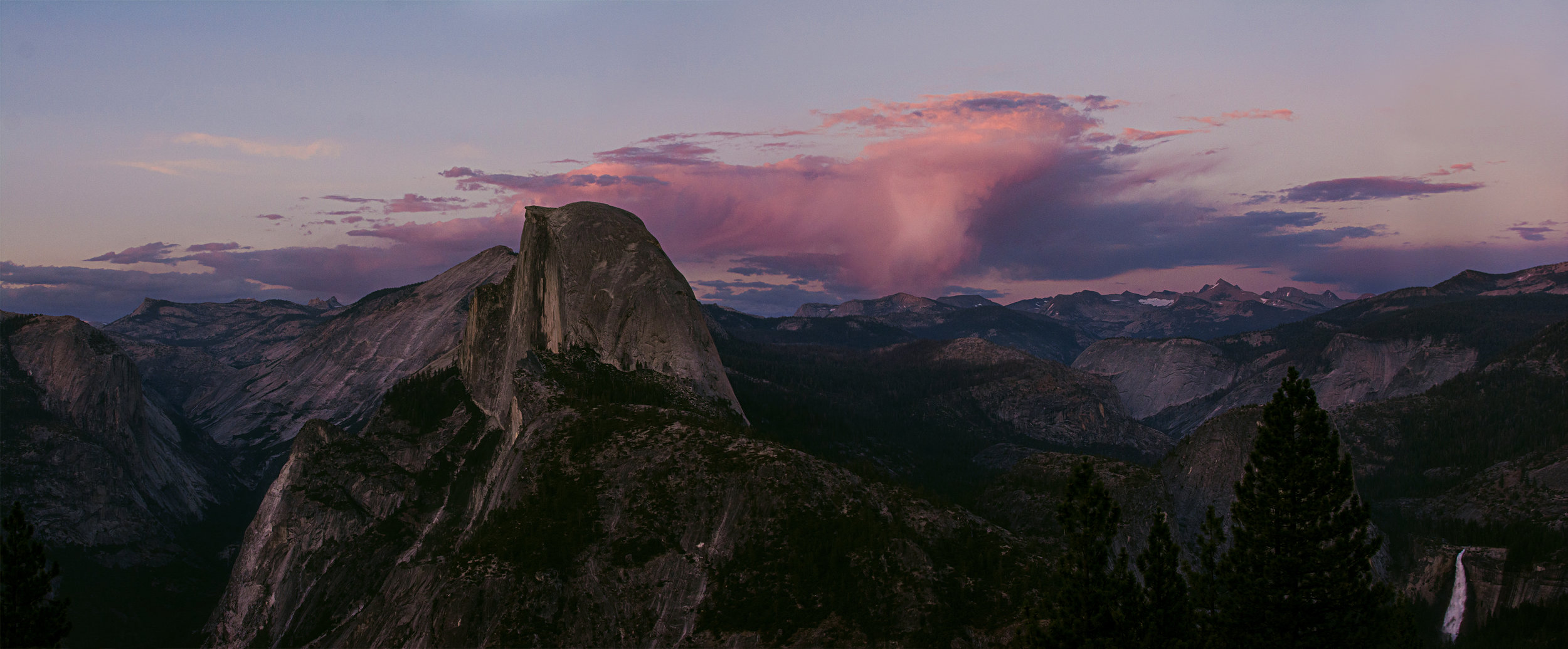 A pano from my trip to Yosemite in the summer of 2017 created from several photos that I stitched together to end up with the full view.