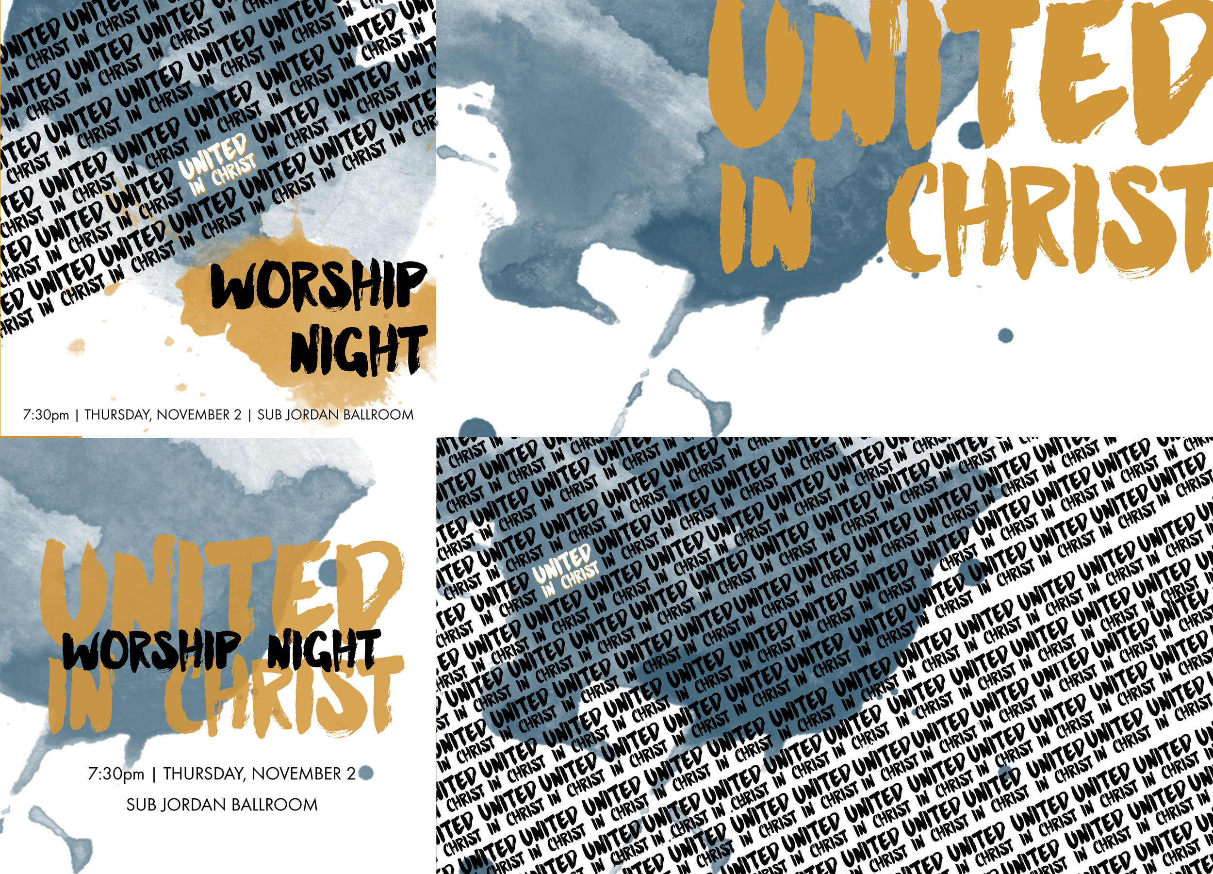 Graphics for the Boise State campus-wide worship night. Used for Instagram/Facebook and slides.
