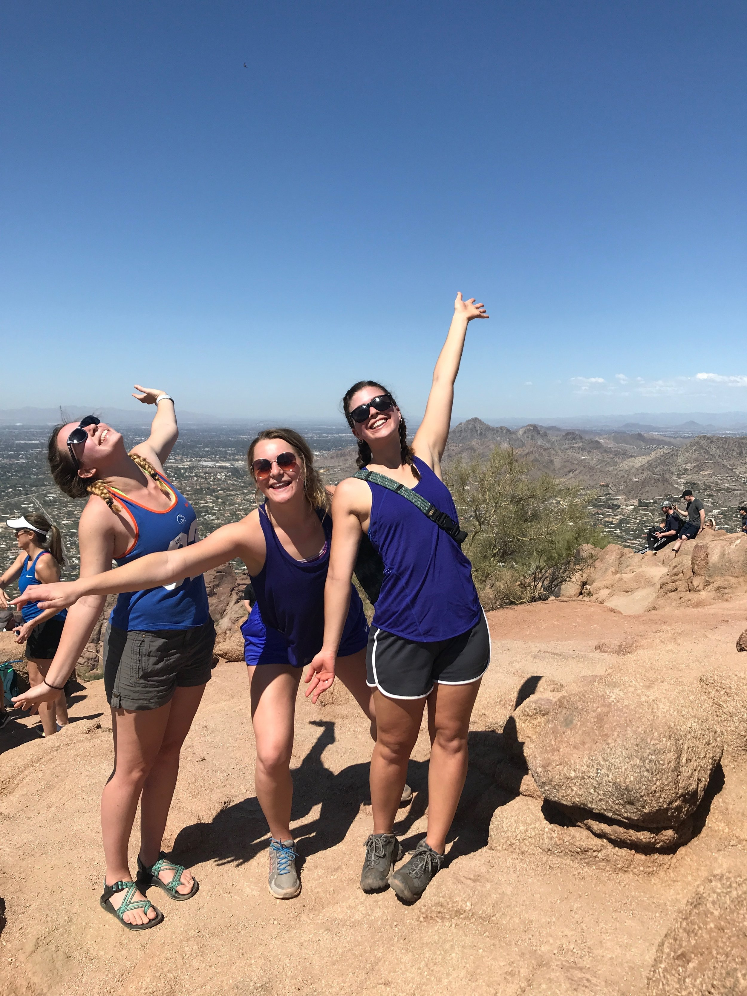 At the top of Camelback