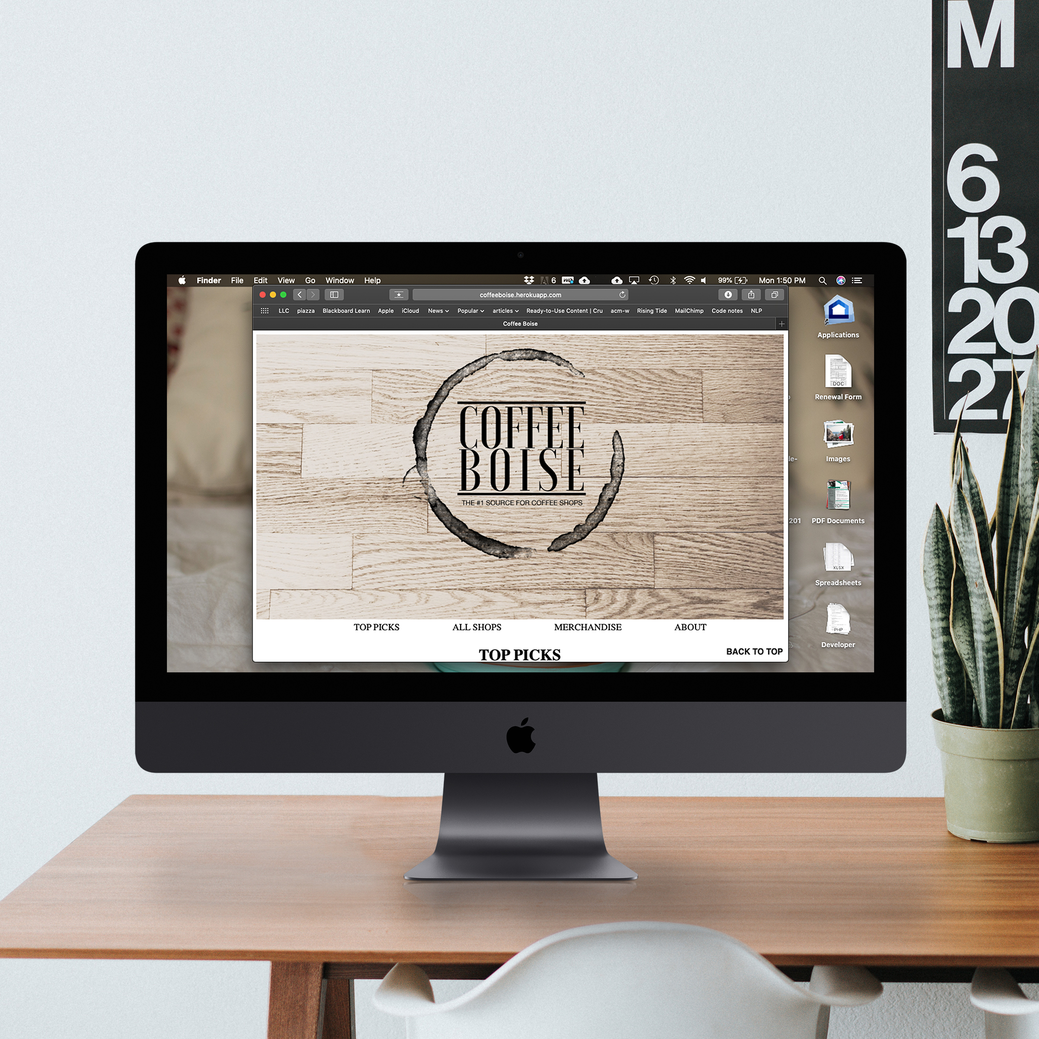 Coffee Boise (Website coded using PHP, JavaScript, HTML, and CSS styling.)