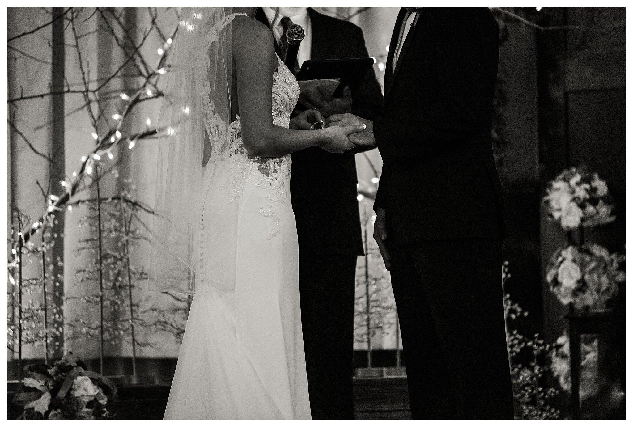 Boise Wedding Photographer, Idaho Wedding Photographer, candlelit wedding, plum and gold wedding colors, winter wedding, Indoor Photography, lace wedding dress, wedding updo, sentimental wedding ideas, documentary wedding photographer, wedding photography, large group wedding, church wedding