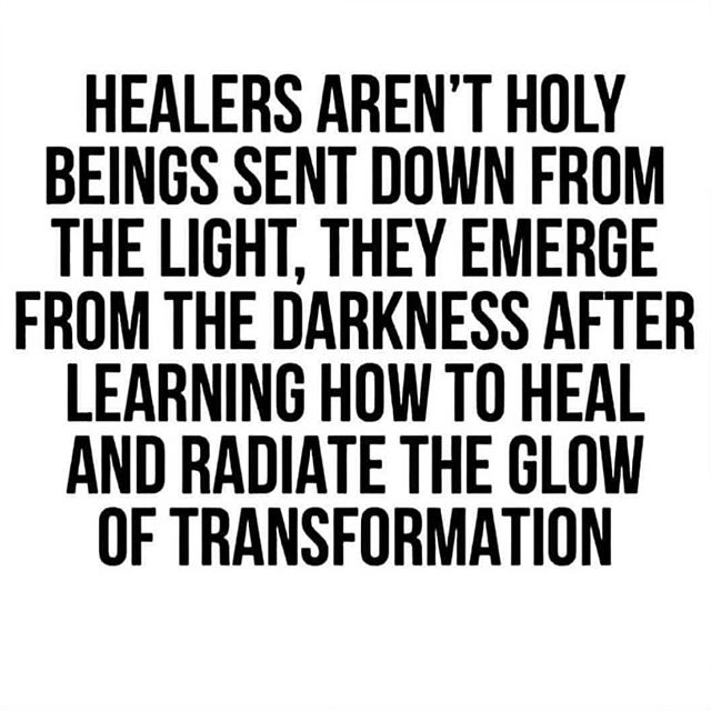 "The best healers among us deeply know and are at peace with their own darkness.  Not that boogie man darkness that is outside of ones self.  Micro to macro.  It all lives inside us.  If a healer tells you they have no darkness or that they have learned to be all light, run 🏃‍♀️ the other direction.  This new age bullshit of I've ""made it and let me show you how you can too in 5 easy steps"" is dark disguised as light.  No one has ""made it"". No the true healer knows that there are at least fifty more transformations coming their way and understands that each one will make them a more powerful teacher than before.  There is no ""I made it"". There is only ""I am being made"". You are perfect exactly where you are, because it's exactly where you need to be right now.  If you are ready to do the transformational healing work, set up your free call in the link @sparkleandshineguidance  At Sparkle and Shine Guidance we infuse Astrological Chart Readings with deep intuitive Jungian/Energy healing work to help you keep succeeding with each transformation.  Infinite ♾ Love, Abigail . . #repost  @144dcoitos"